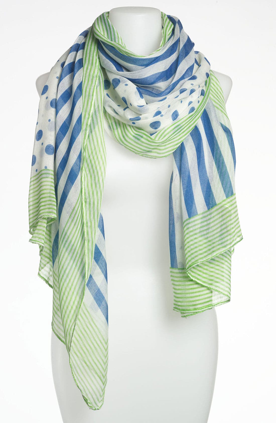Main Image - Tasha 'Dots and Stripes' Scarf