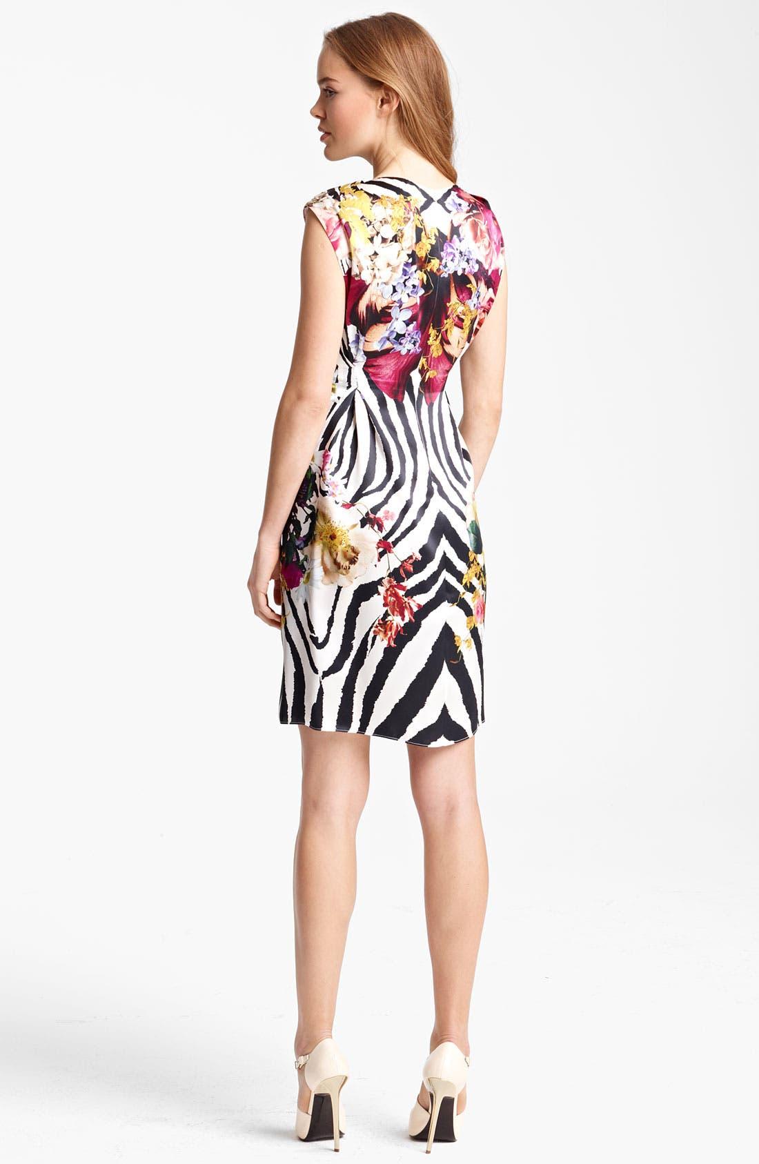 Alternate Image 2  - Roberto Cavalli Floral & Animal Print Dress