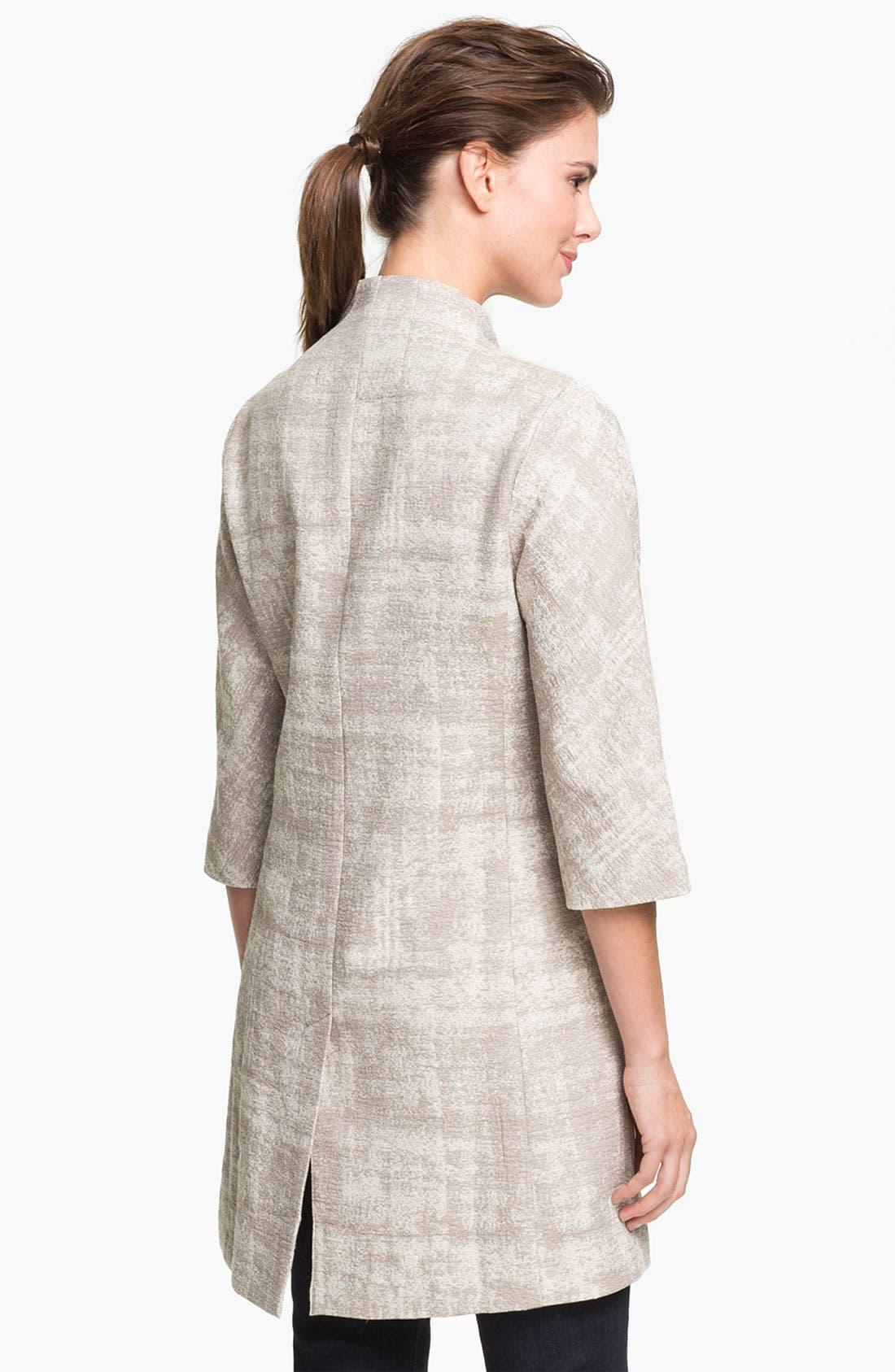 Alternate Image 2  - Eileen Fisher Illusion Jacquard Coat