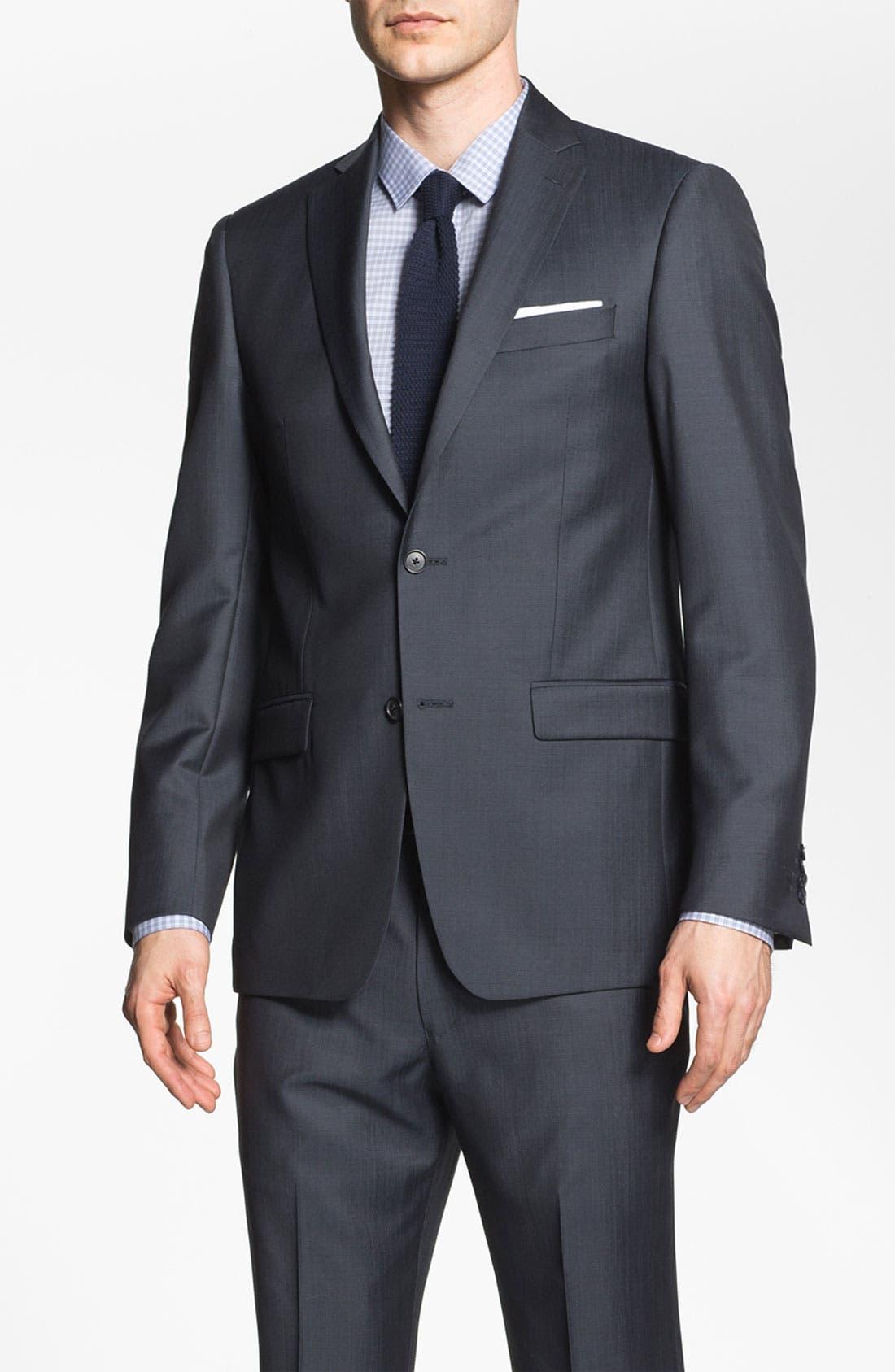 Main Image - Michael Kors Trim Fit Twill Suit