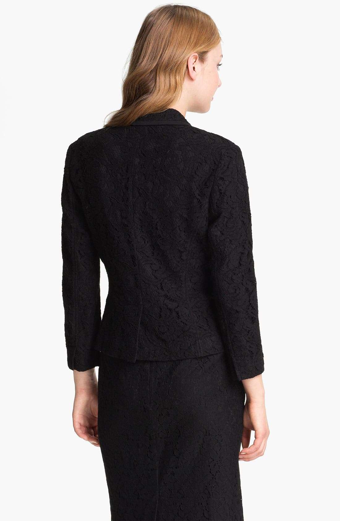 Alternate Image 2  - Halogen® Lace One Button Blazer