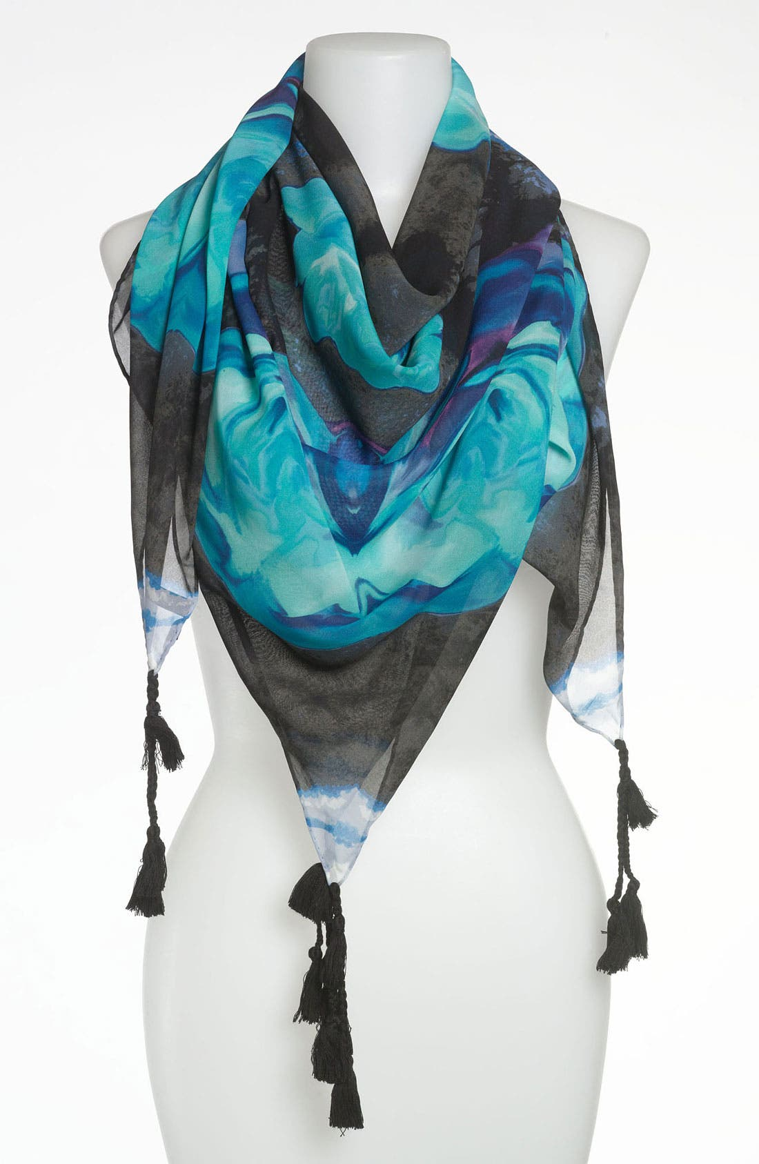 Main Image - Tarnish 'Paradigm' Tassel Scarf