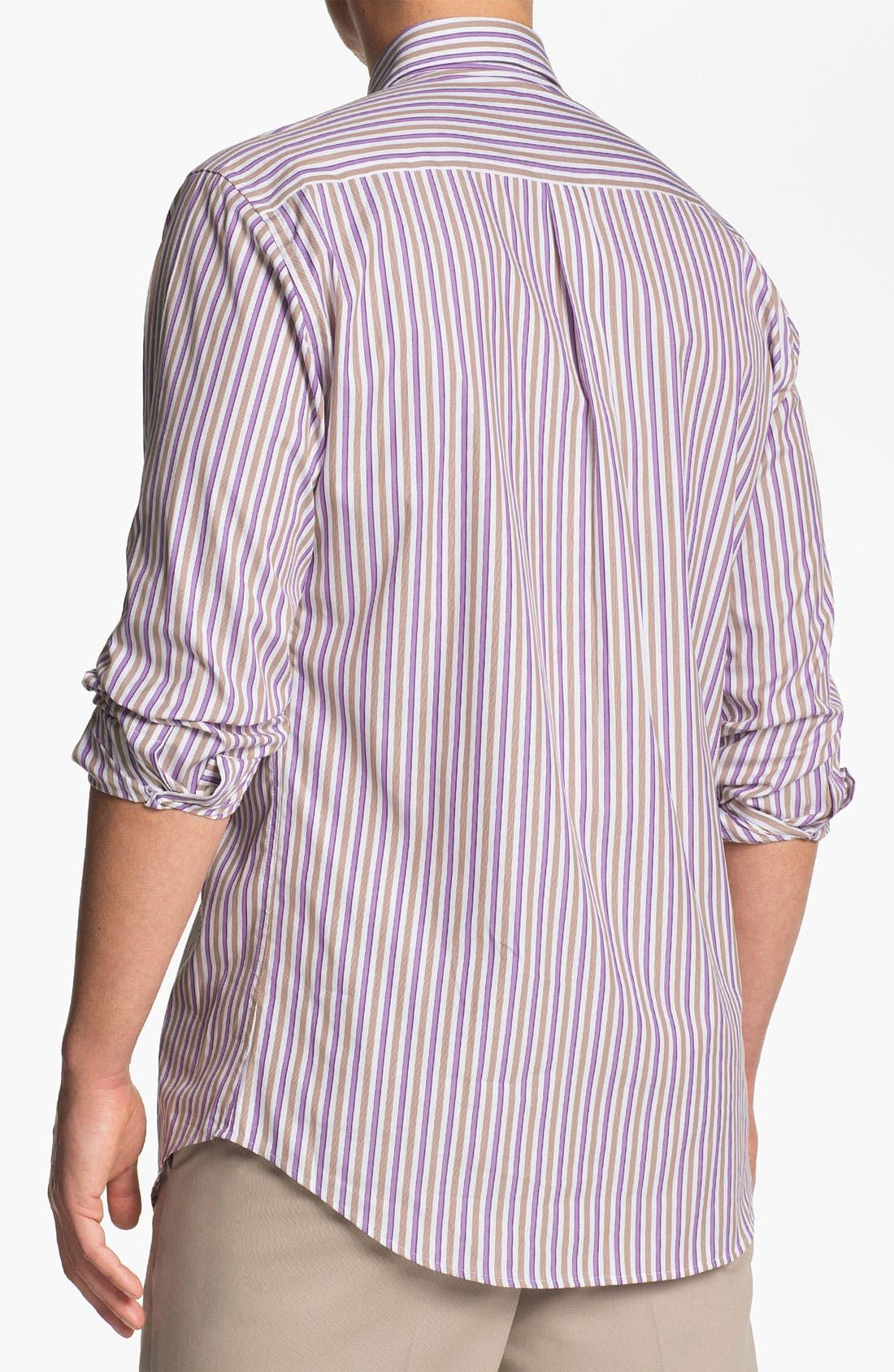 Alternate Image 2  - Peter Millar 'Munich' Regular Fit Stripe Sport Shirt