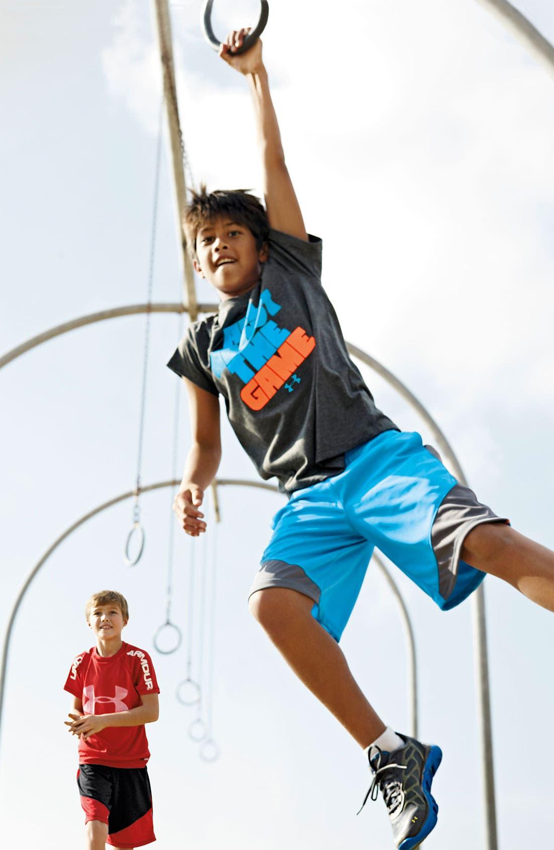 Main Image - Under Armour T-Shirt, Shorts & Sneaker (Big Boys)