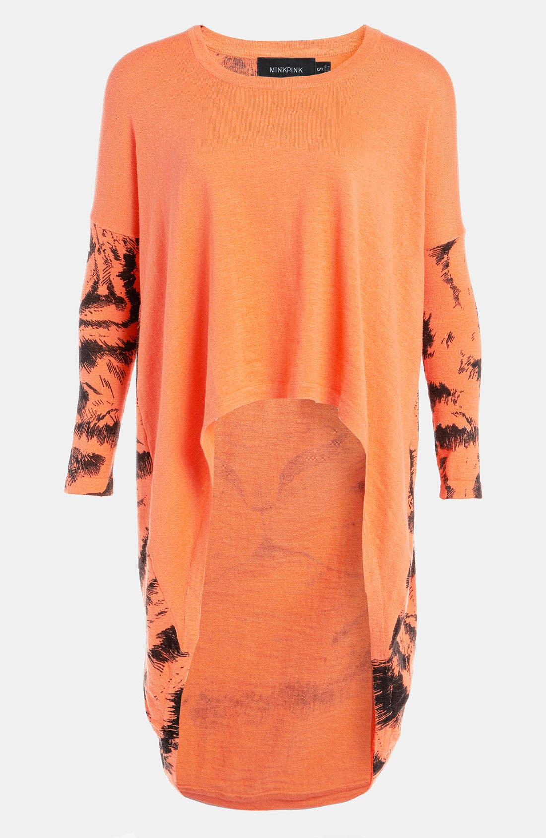 Alternate Image 1 Selected - MINKPINK 'Watch Your Back' Oversized High/Low Knit Top