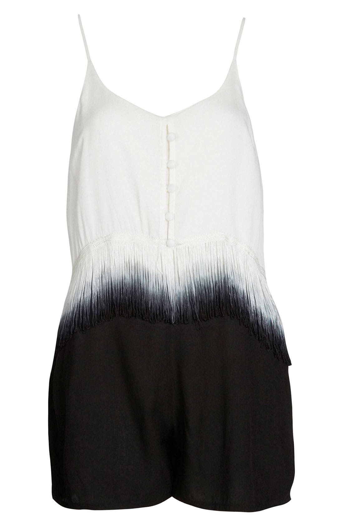 Alternate Image 1 Selected - Topshop Dip Dye Fringe Romper