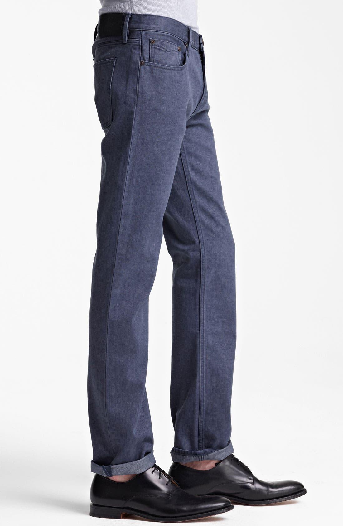 Alternate Image 3  - Burberry London Straight Leg Jeans (Indigo)