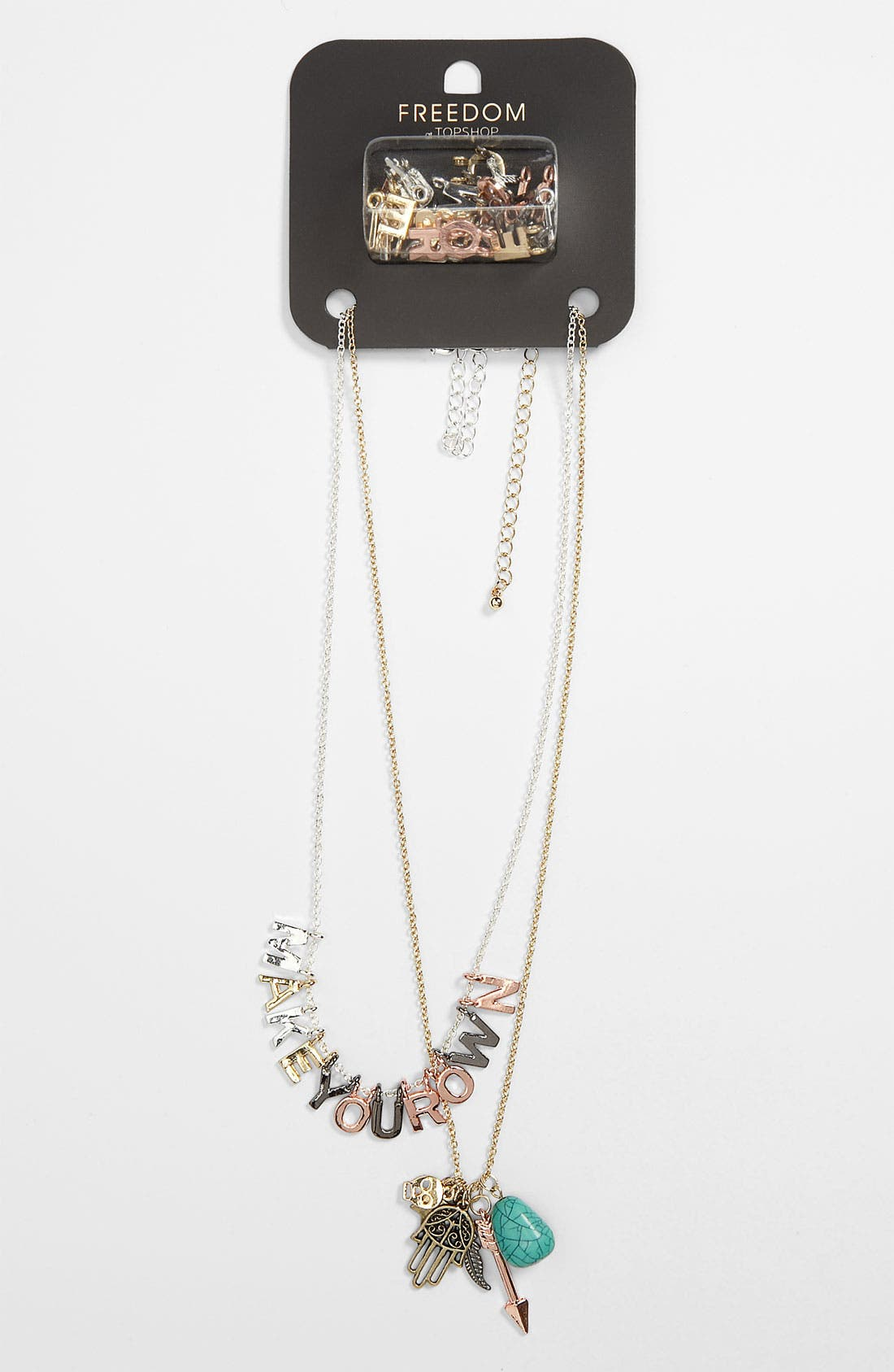 Alternate Image 1 Selected - Topshop 'Make Your Own' Necklace Kit
