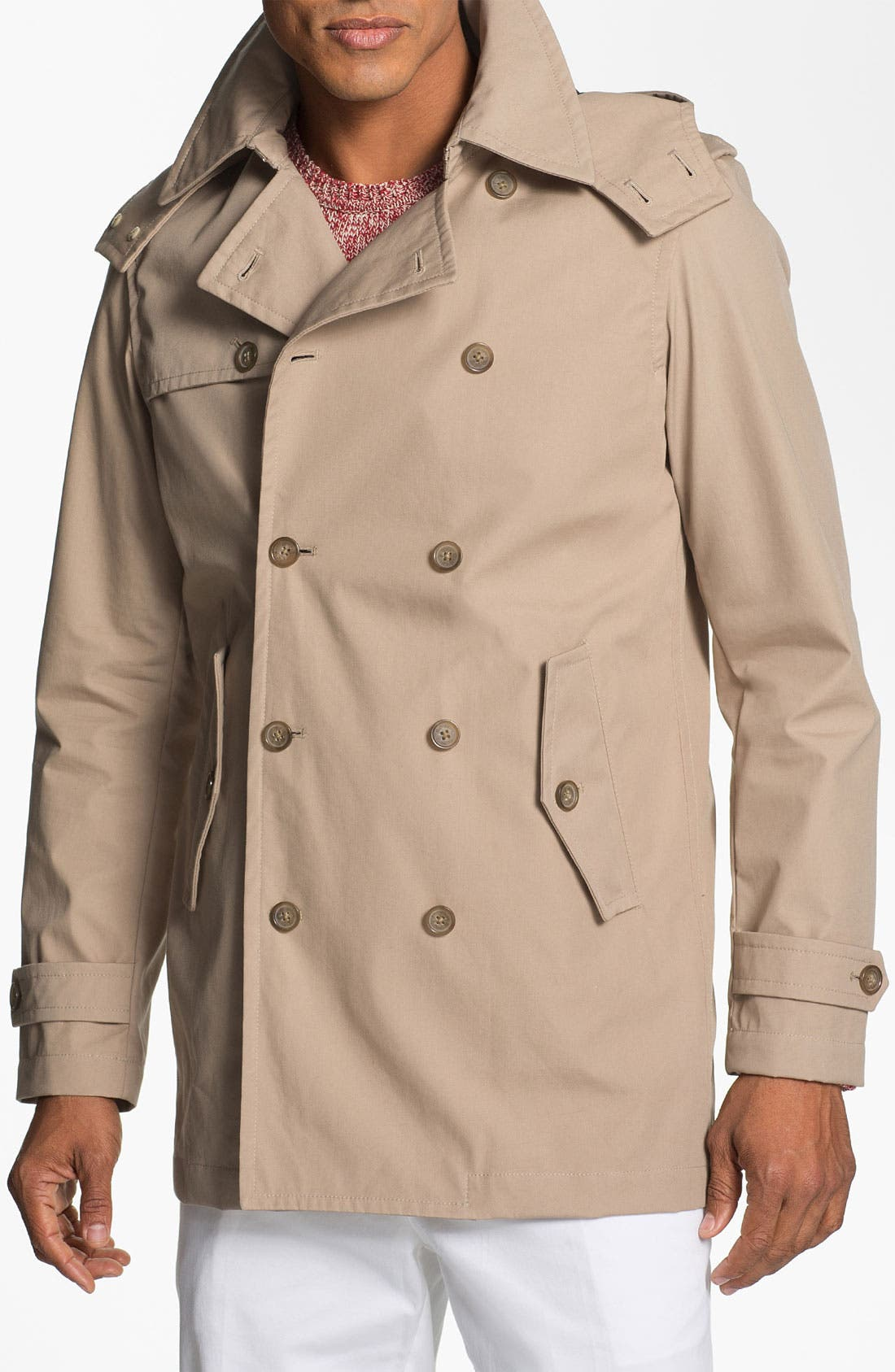 Alternate Image 1 Selected - Michael Kors Hooded Trench Coat
