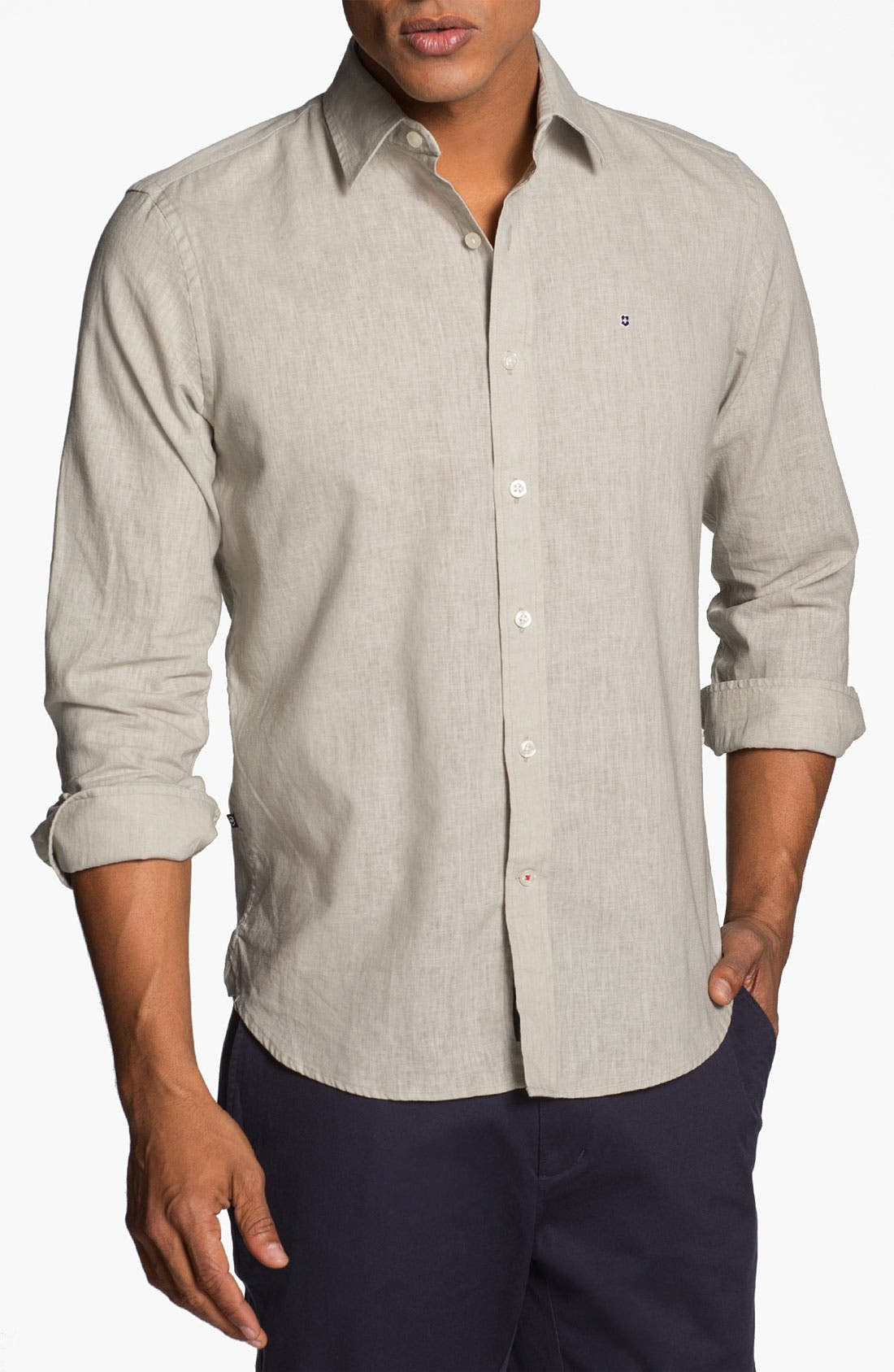 Alternate Image 1 Selected - Victorinox Swiss Army® 'Villamont' Linen Blend Sport Shirt (Online Only)
