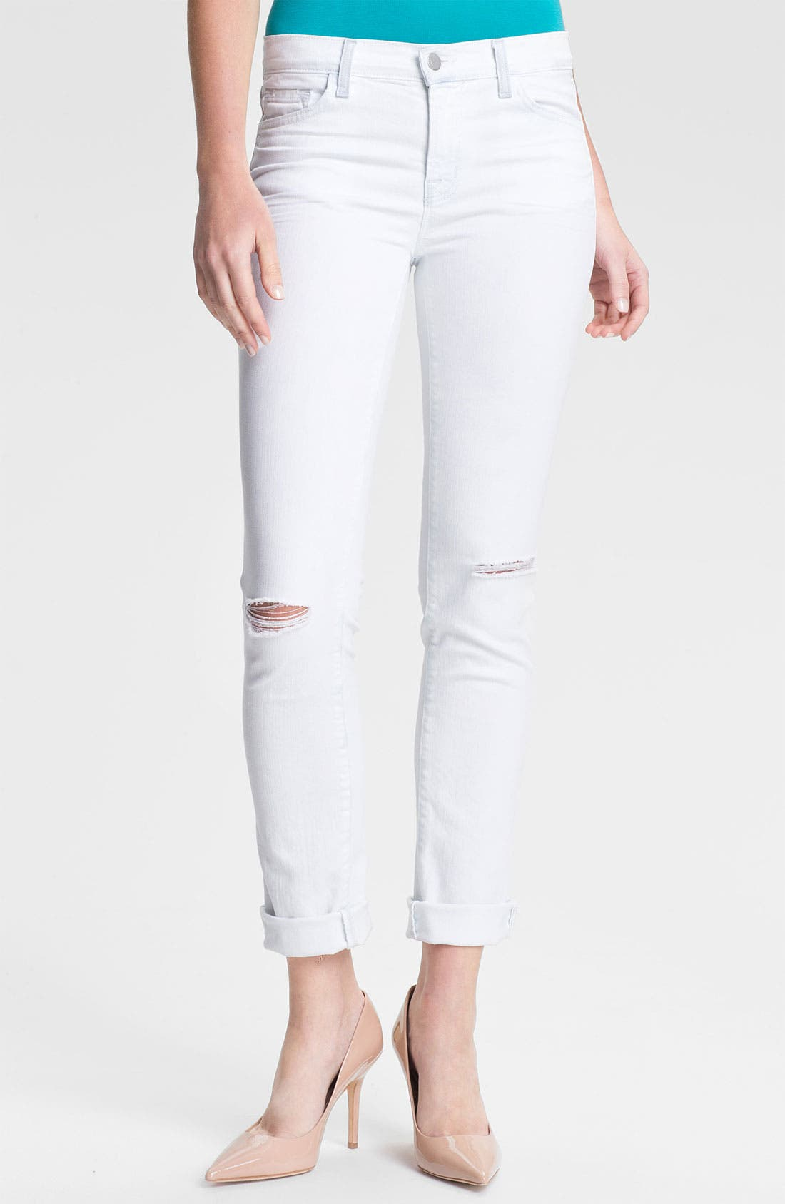 Main Image - J Brand '8112' Mid-Rise Stove Pipe Jeans (Runaway)