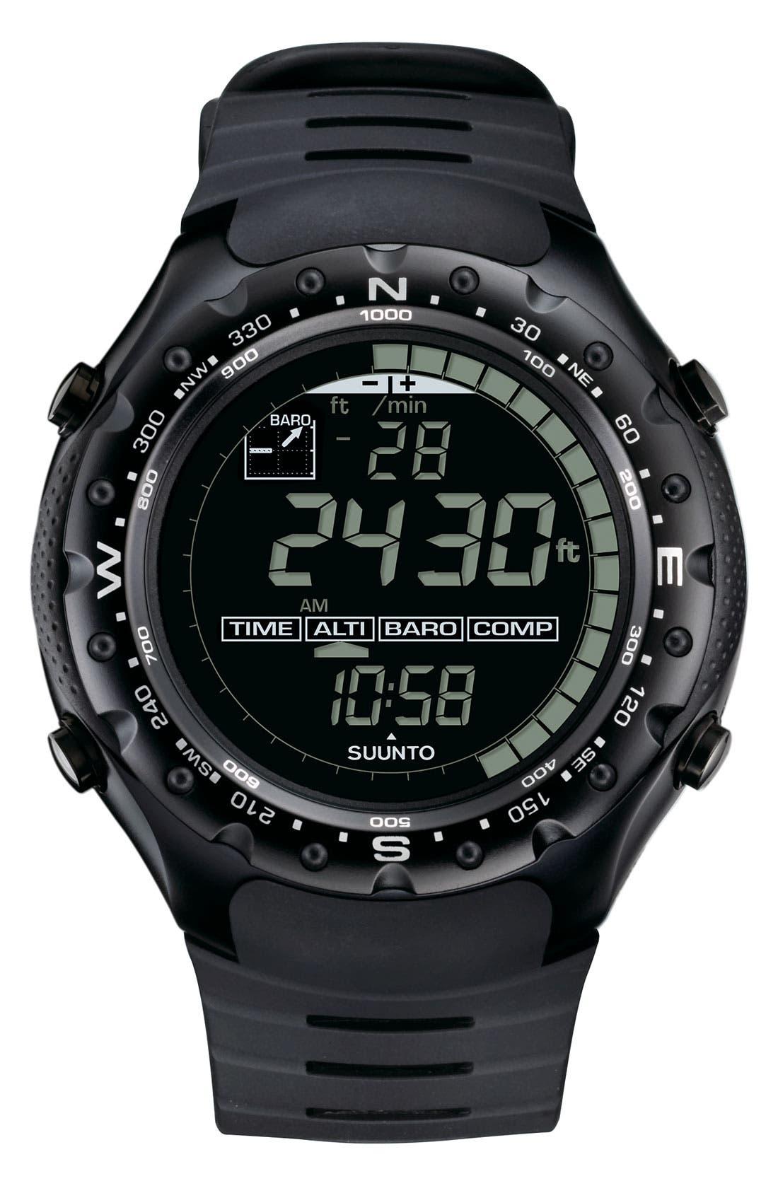 Alternate Image 1 Selected - Suunto 'X-Lander' Multifunction Rubber Strap Watch, 52mm