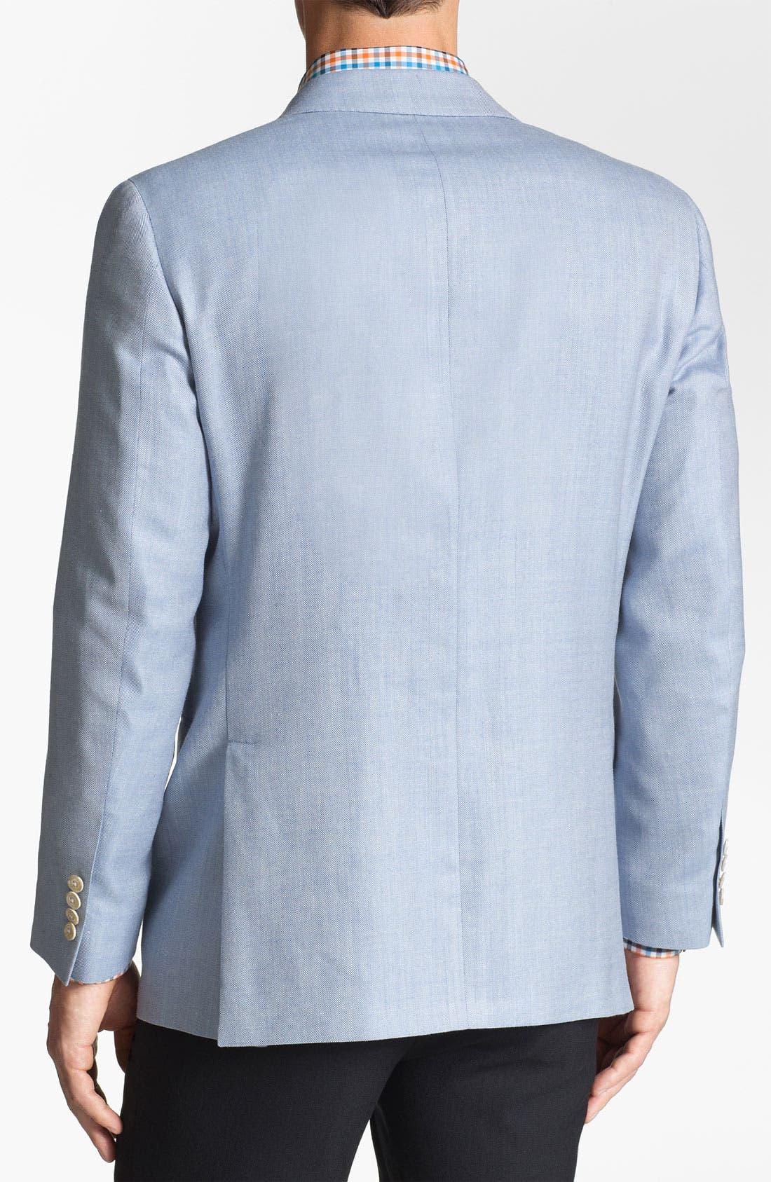 Alternate Image 2  - Samuelsohn Silk Blend Sportcoat