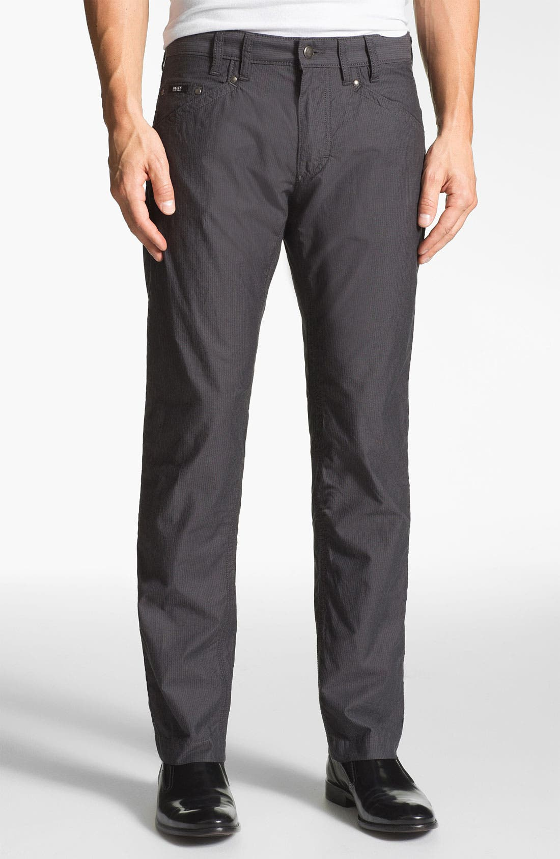 Alternate Image 1 Selected - BOSS Black 'Michigan' Slim Fit Straight Leg Pants
