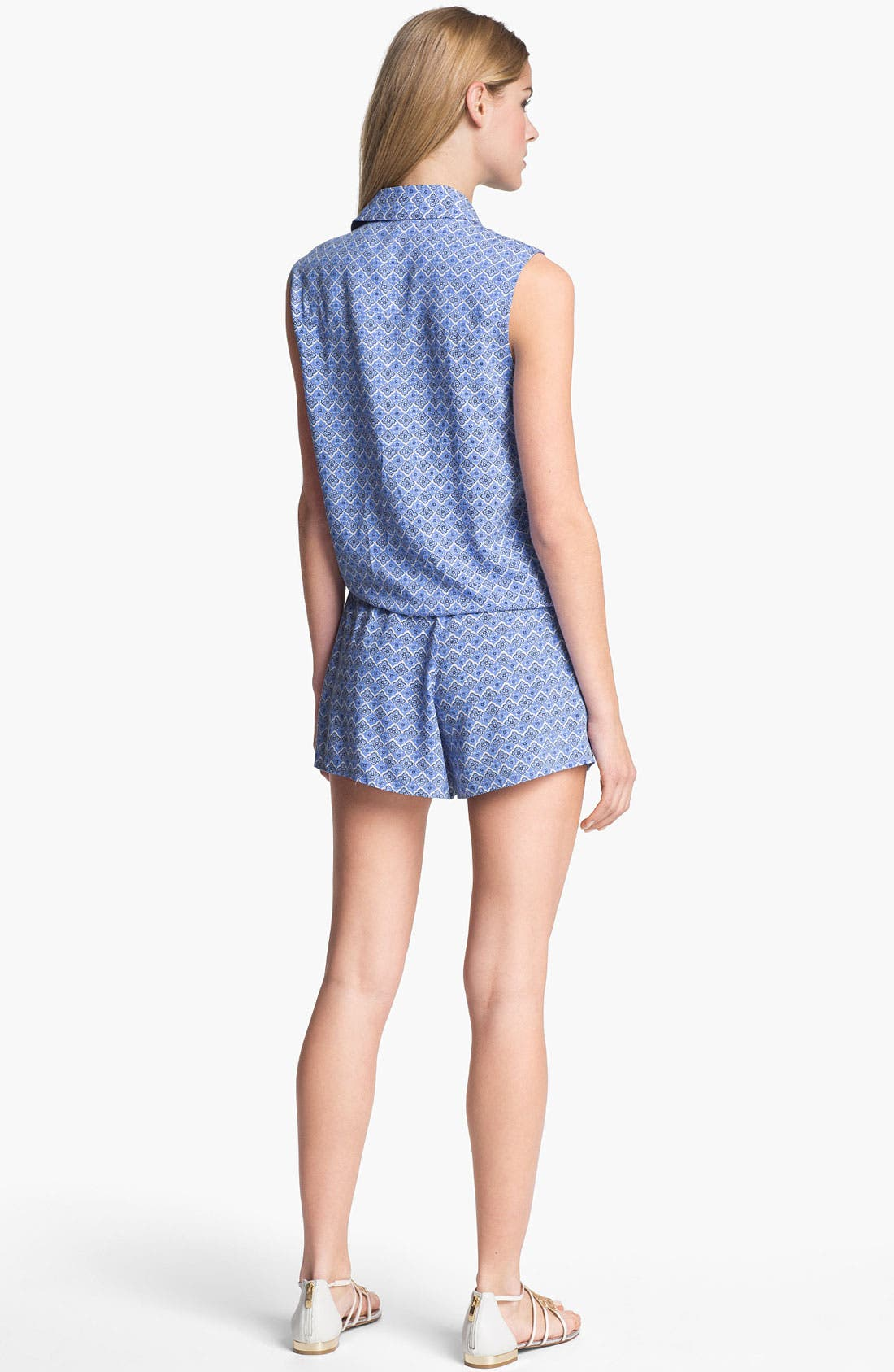Alternate Image 5  - Two by Vince Camuto Pleated Print Shorts