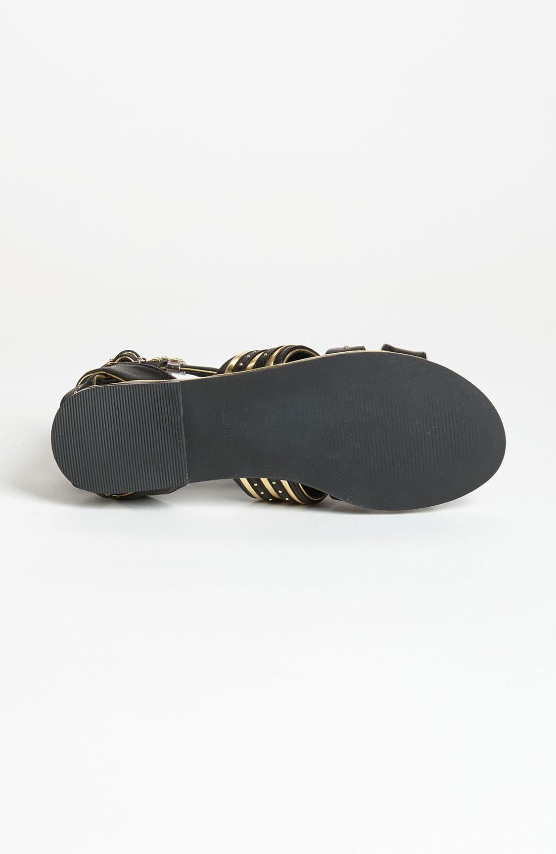 Alternate Image 4  - Topshop 'Francine' Metal Gladiator Sandal