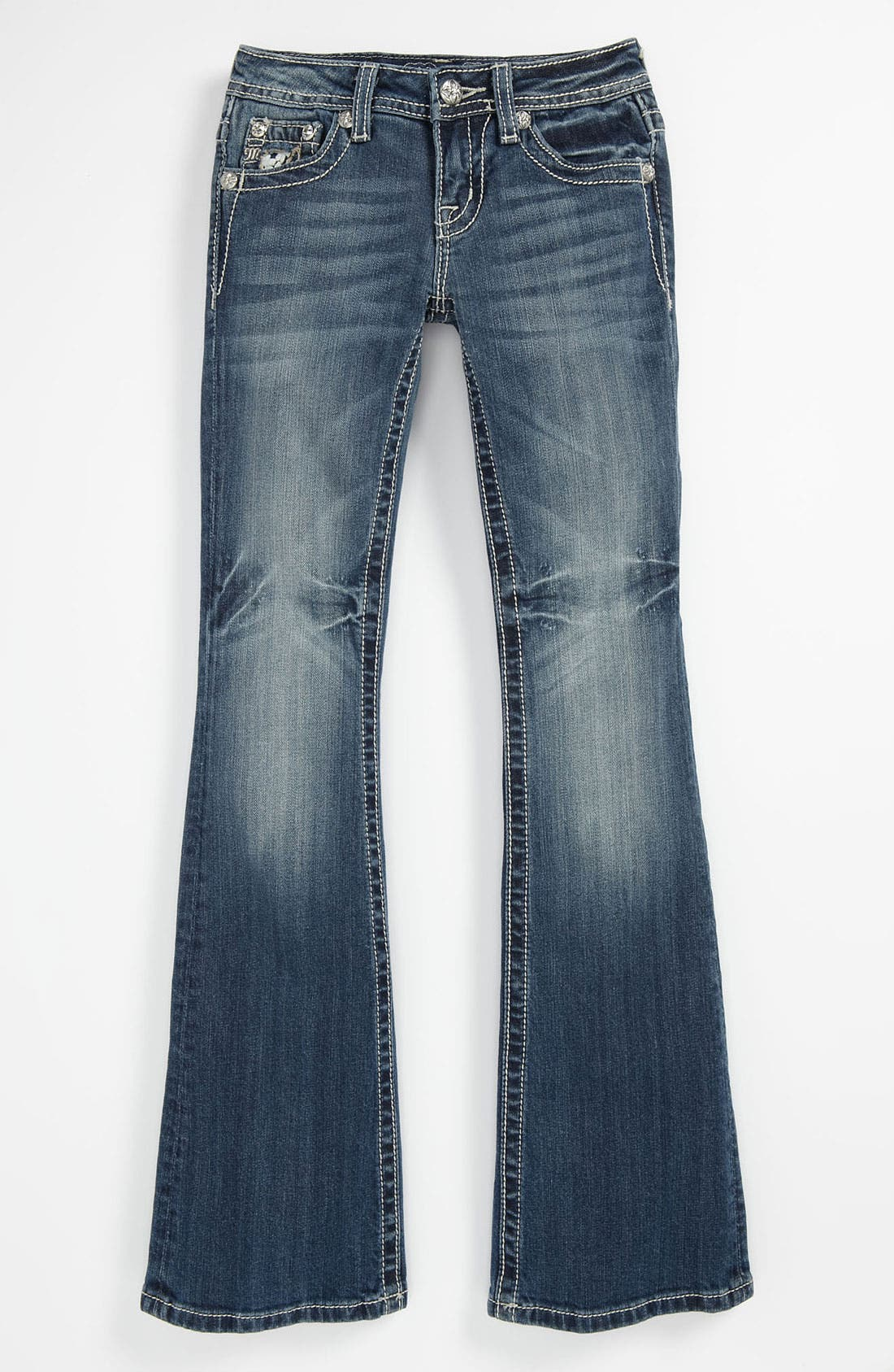 Alternate Image 2  - Miss Me Bootcut Jeans (Big Girls)
