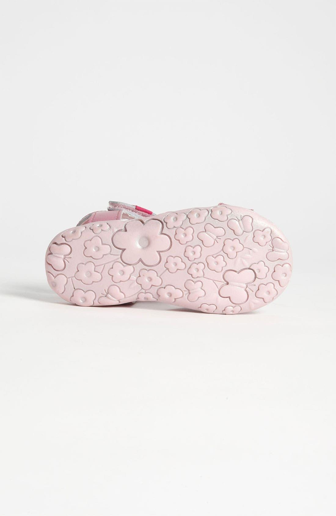 Alternate Image 4  - Laura Ashley 'Bow' Sandal (Walker & Toddler)