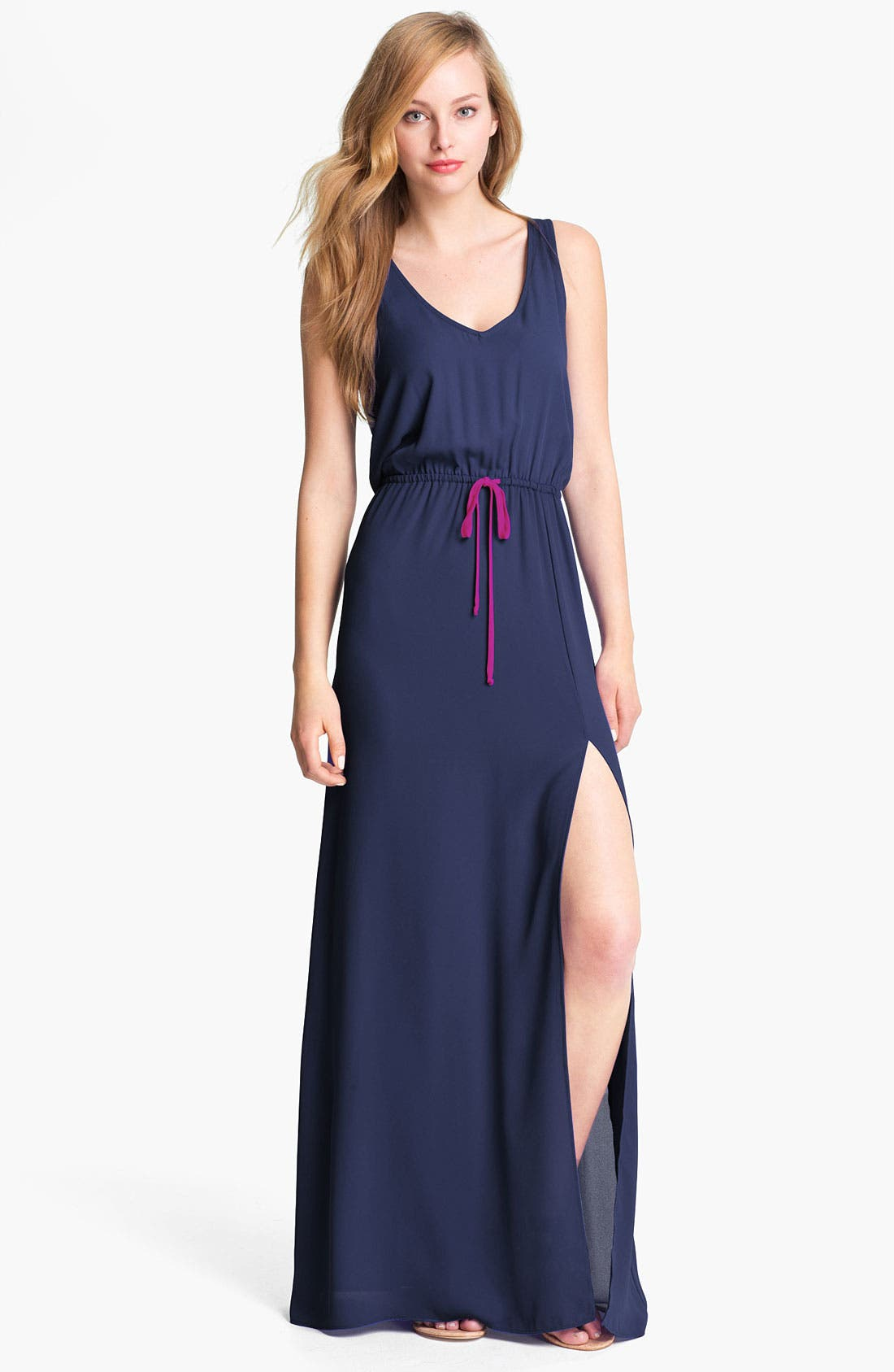 Alternate Image 1 Selected - Eight Sixty Contrast Trim Maxi Dress (Online Only)