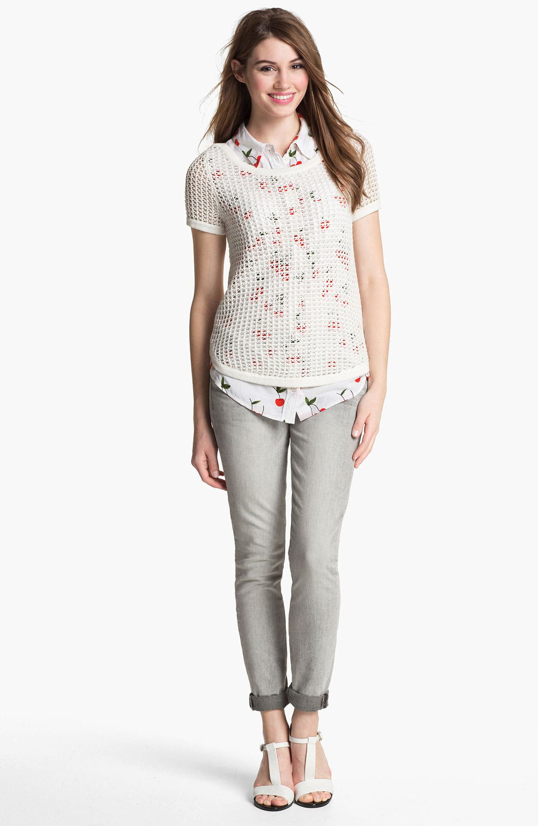 Alternate Image 3  - Two by Vince Camuto 'Shorty' Jeans (Sandy Grey)
