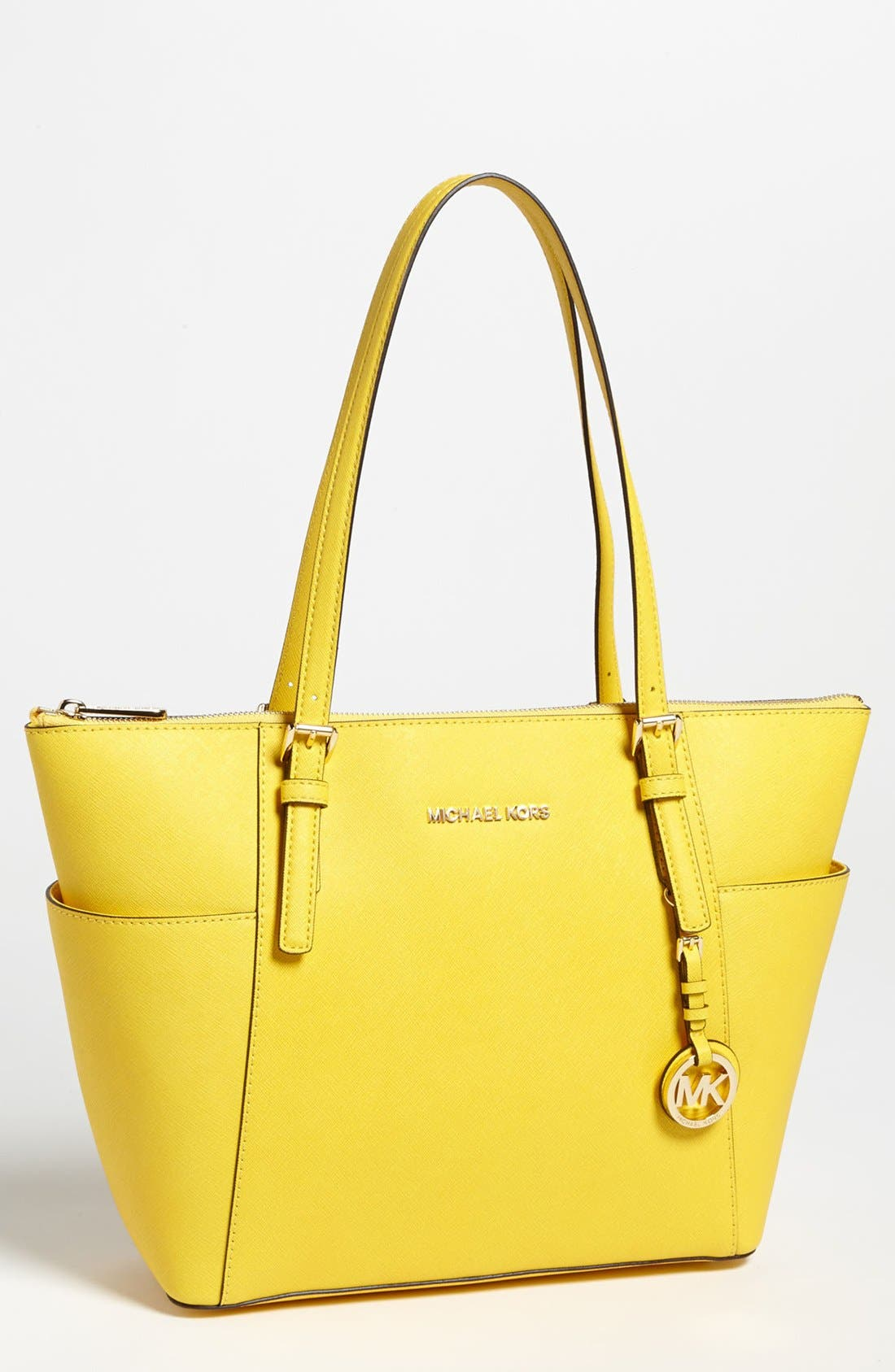 Alternate Image 1 Selected - MICHAEL Michael Kors 'Jet Set' Leather Tote