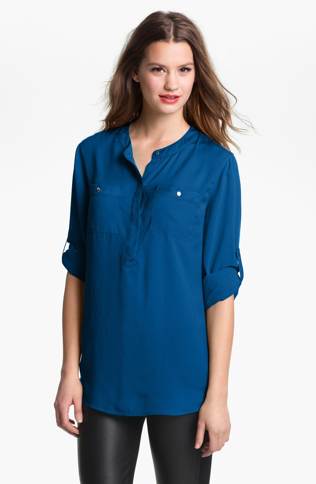 Alternate Image 1 Selected - DKNYC Roll Sleeve Blouse