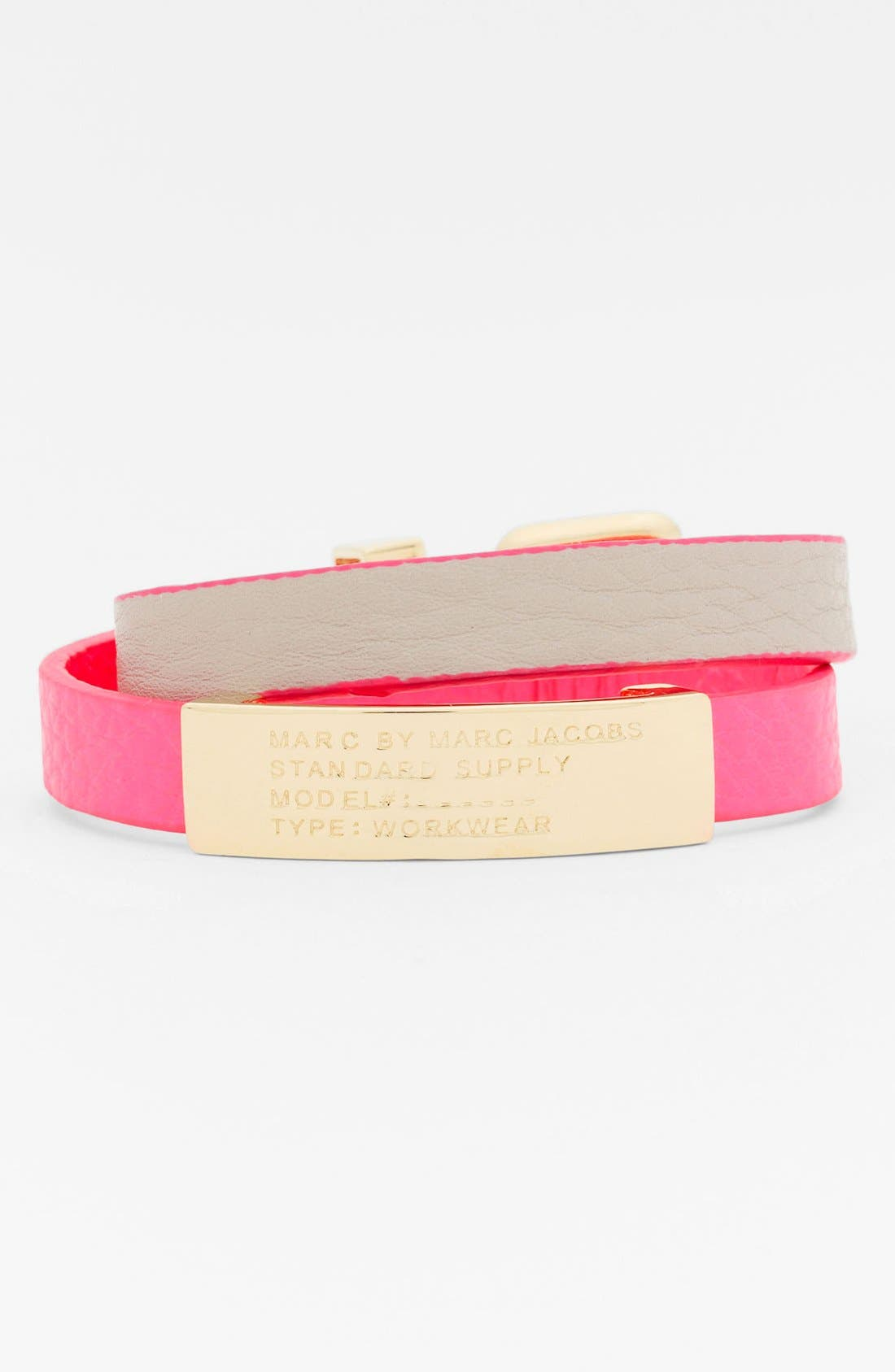 Alternate Image 1 Selected - MARC BY MARC JACOBS 'Standard Supply' Wrap ID Bracelet