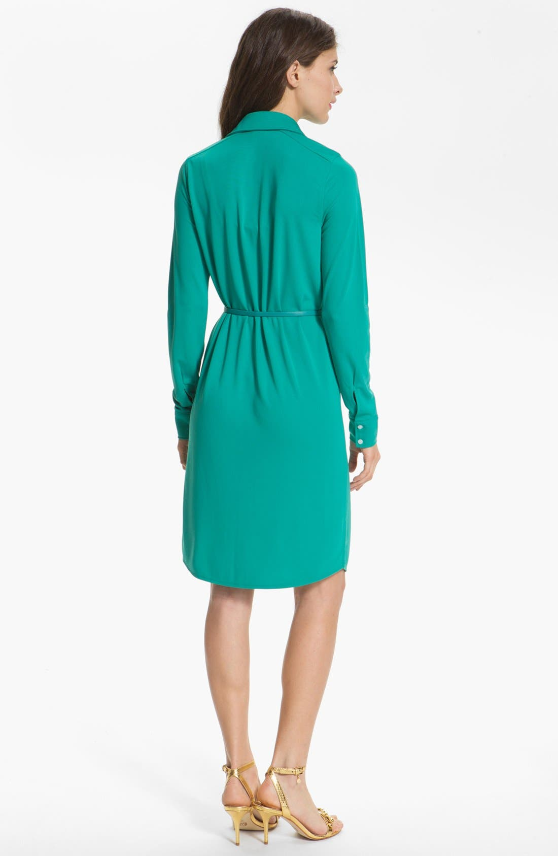 Alternate Image 2  - Anne Klein 'Leo' Roll Sleeve Shirtdress