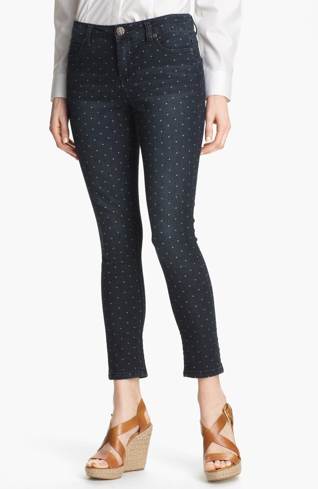 Main Image - Liverpool Jeans Company 'Abby' Print Skinny Ankle Jeans