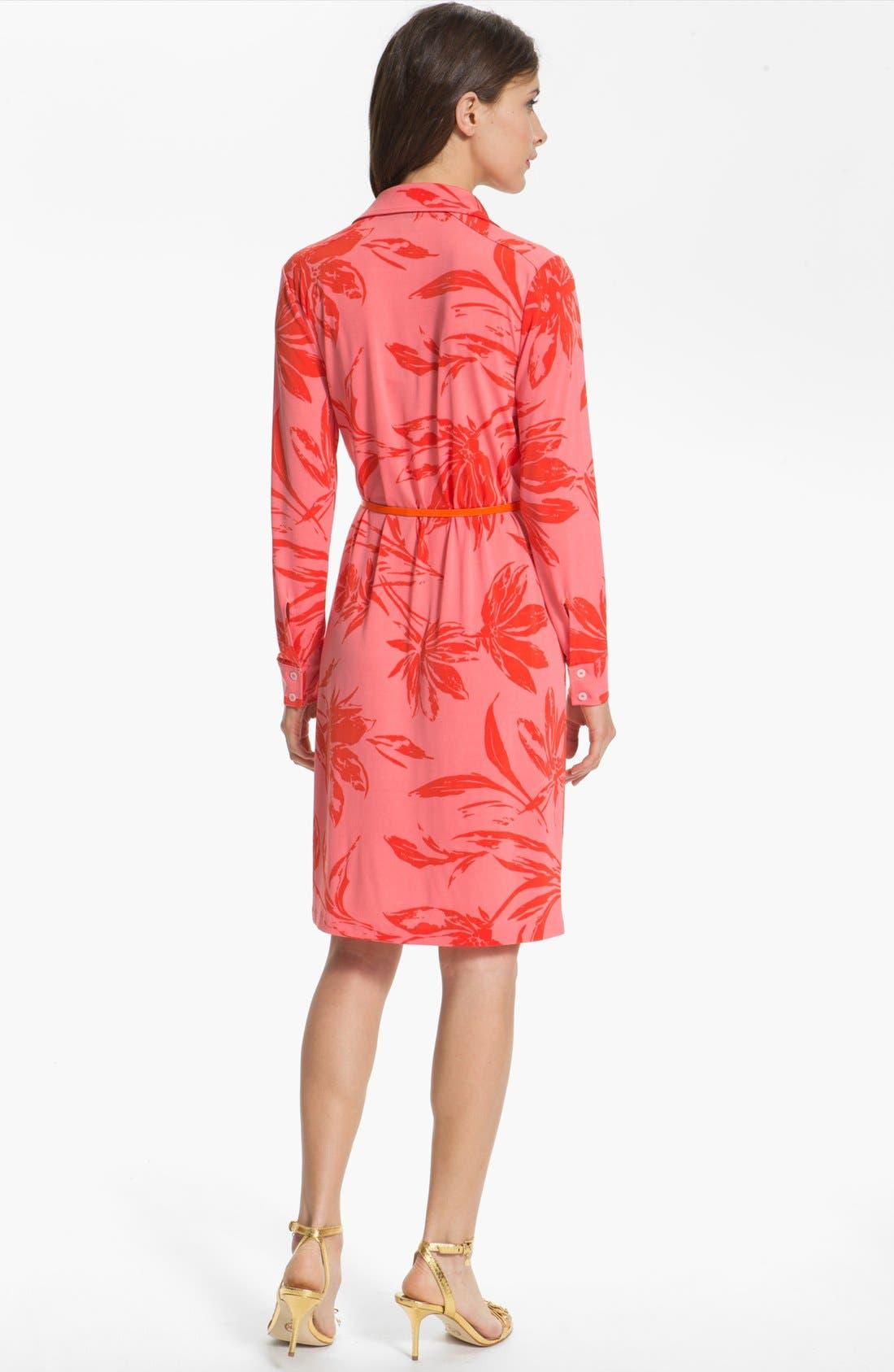 Alternate Image 2  - Anne Klein Floral Print Shirtdress