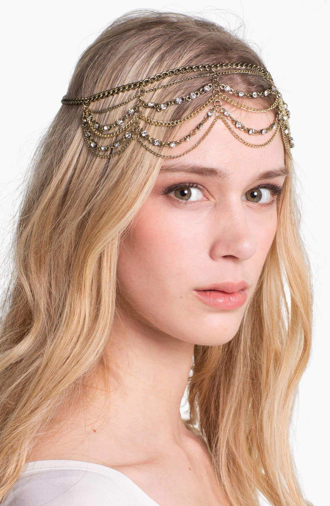 Alternate Image 2  - Orion 'Empress' Chain Head Wrap