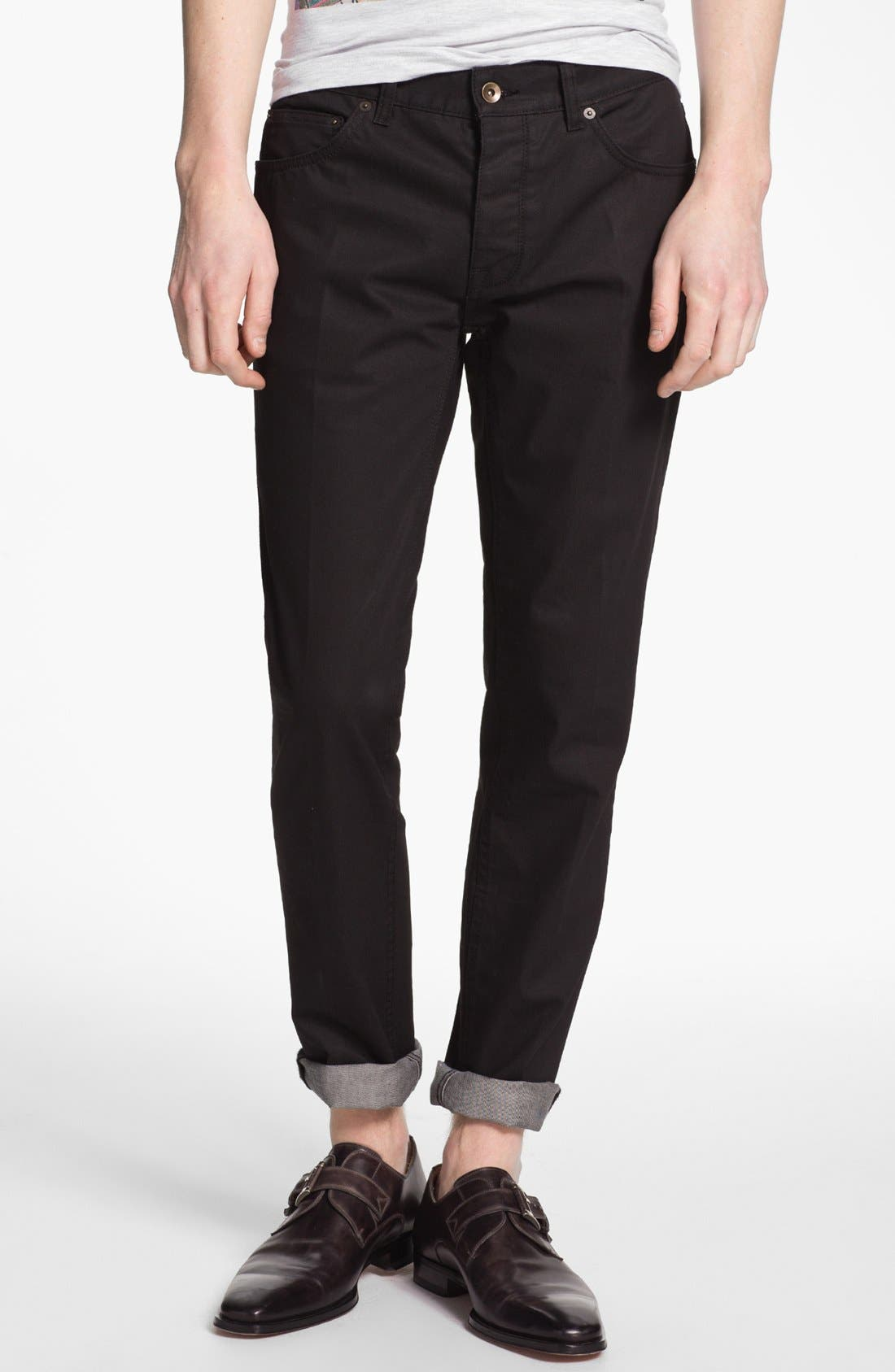 Alternate Image 2  - Topman 'Lux Collection' Coated Skinny Jeans