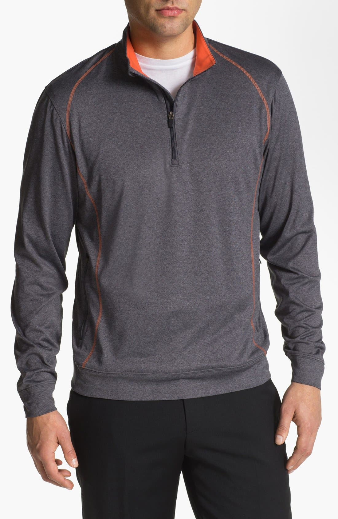 Alternate Image 1 Selected - Cutter & Buck 'Front Nines' DryTec Quarter Zip Fleece