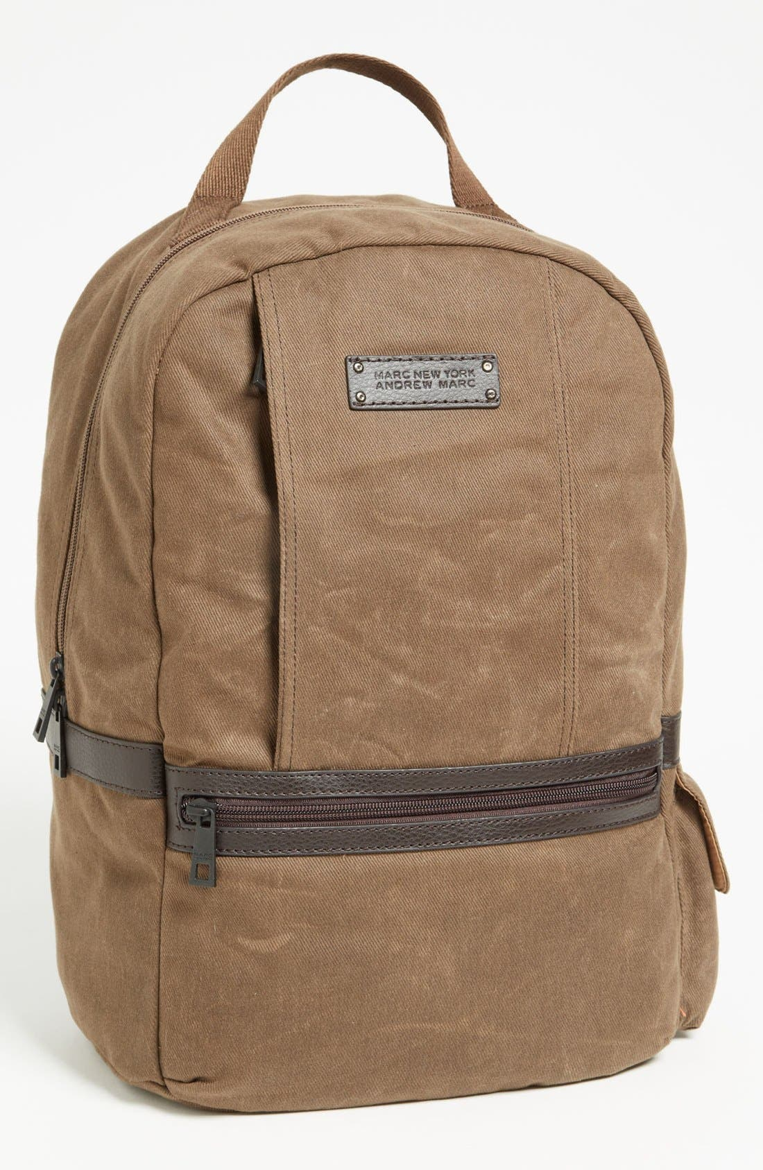 Alternate Image 1 Selected - Andrew Marc 'Essex' Twill Backpack