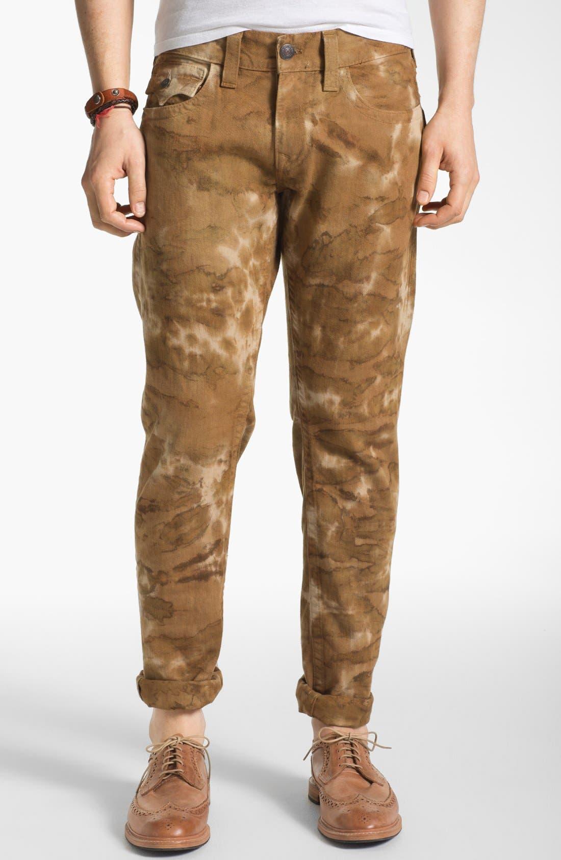 Alternate Image 2  - True Religion Brand Jeans 'Ricky' Straight Leg Jeans (Desert Sand)