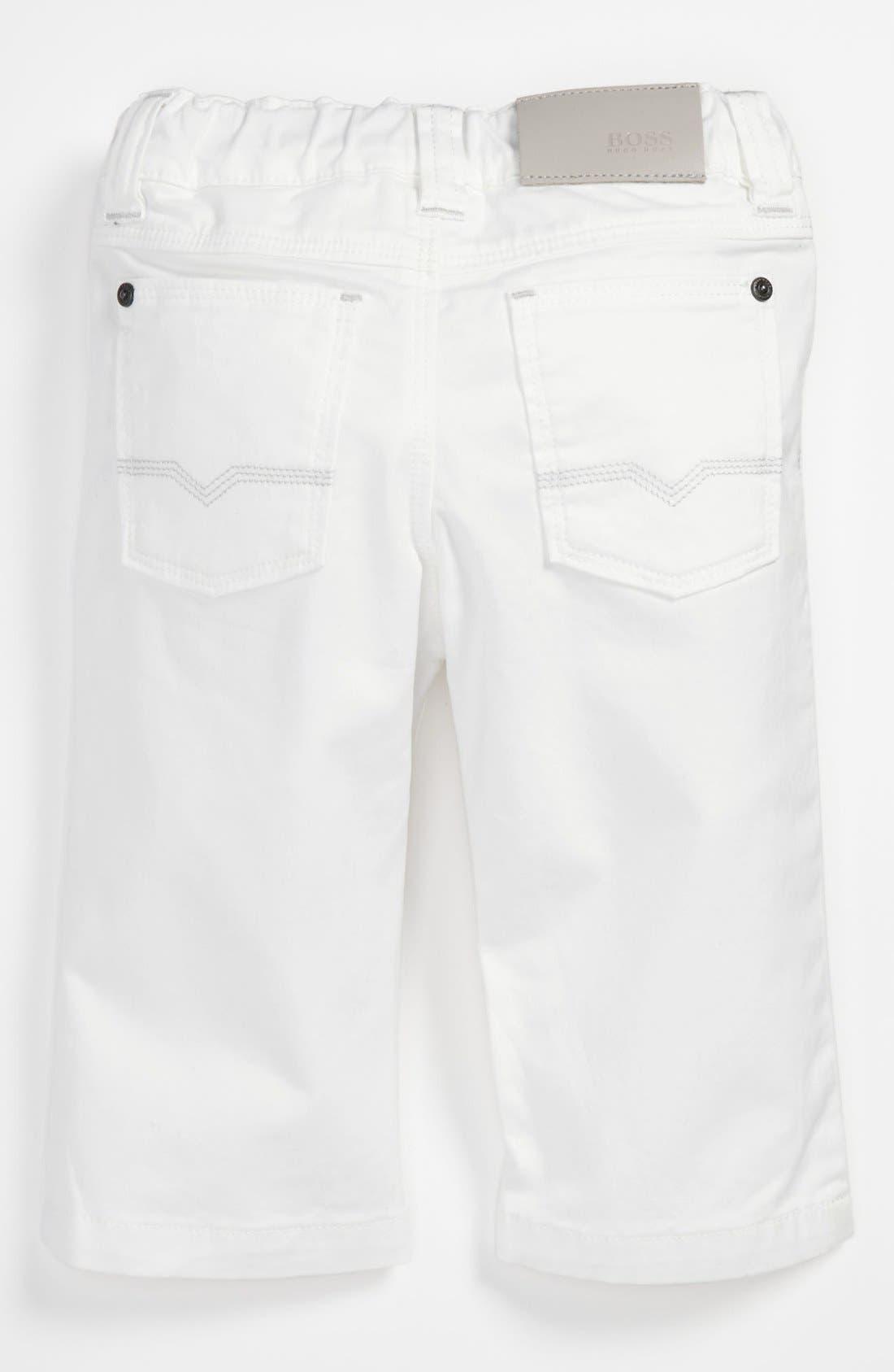 Alternate Image 2  - BOSS Kidswear Twill Pants (Baby)