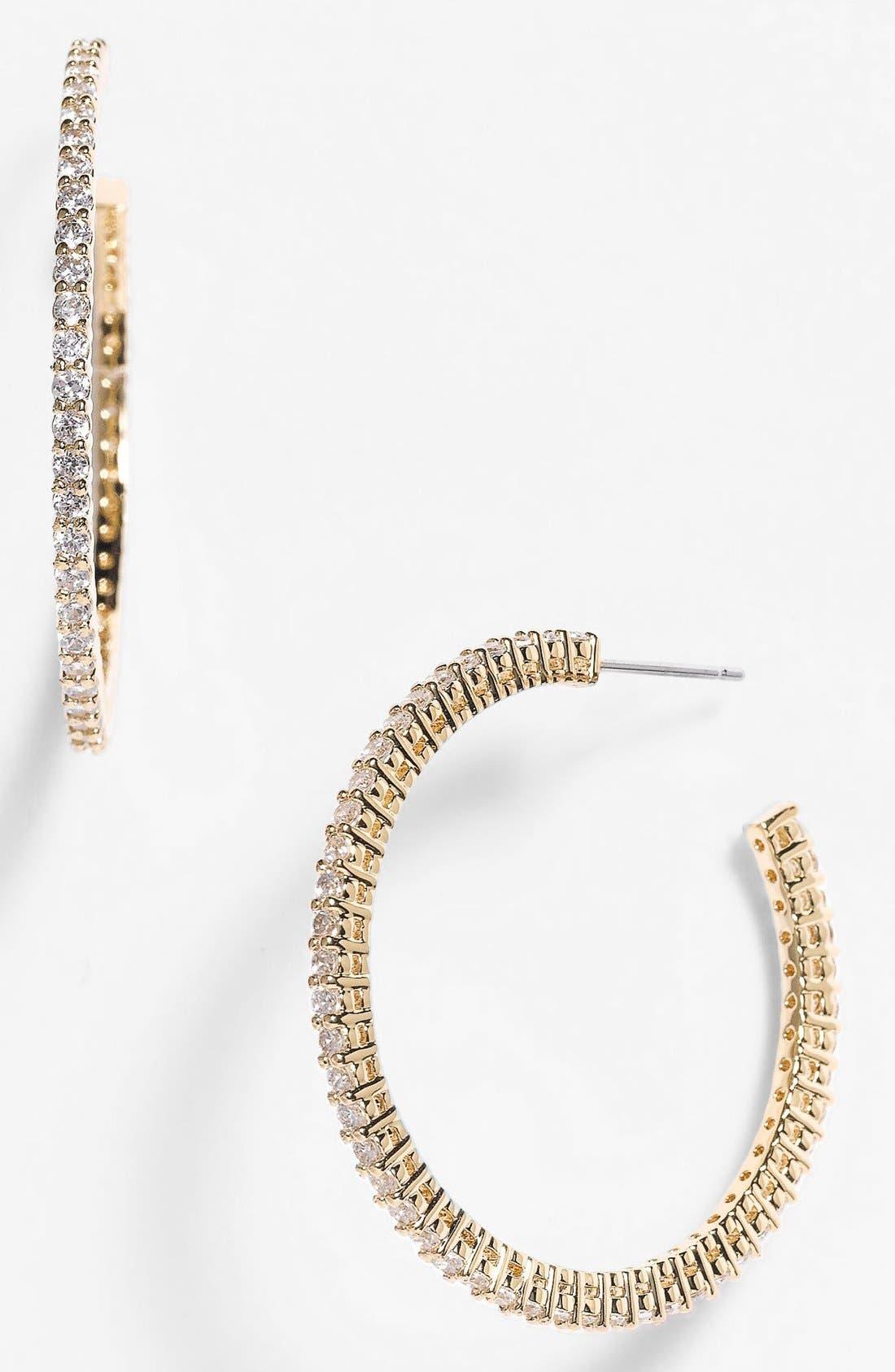 Alternate Image 1 Selected - Nadri Cubic Zirconia Hoop Earrings (Nordstrom Exclusive)