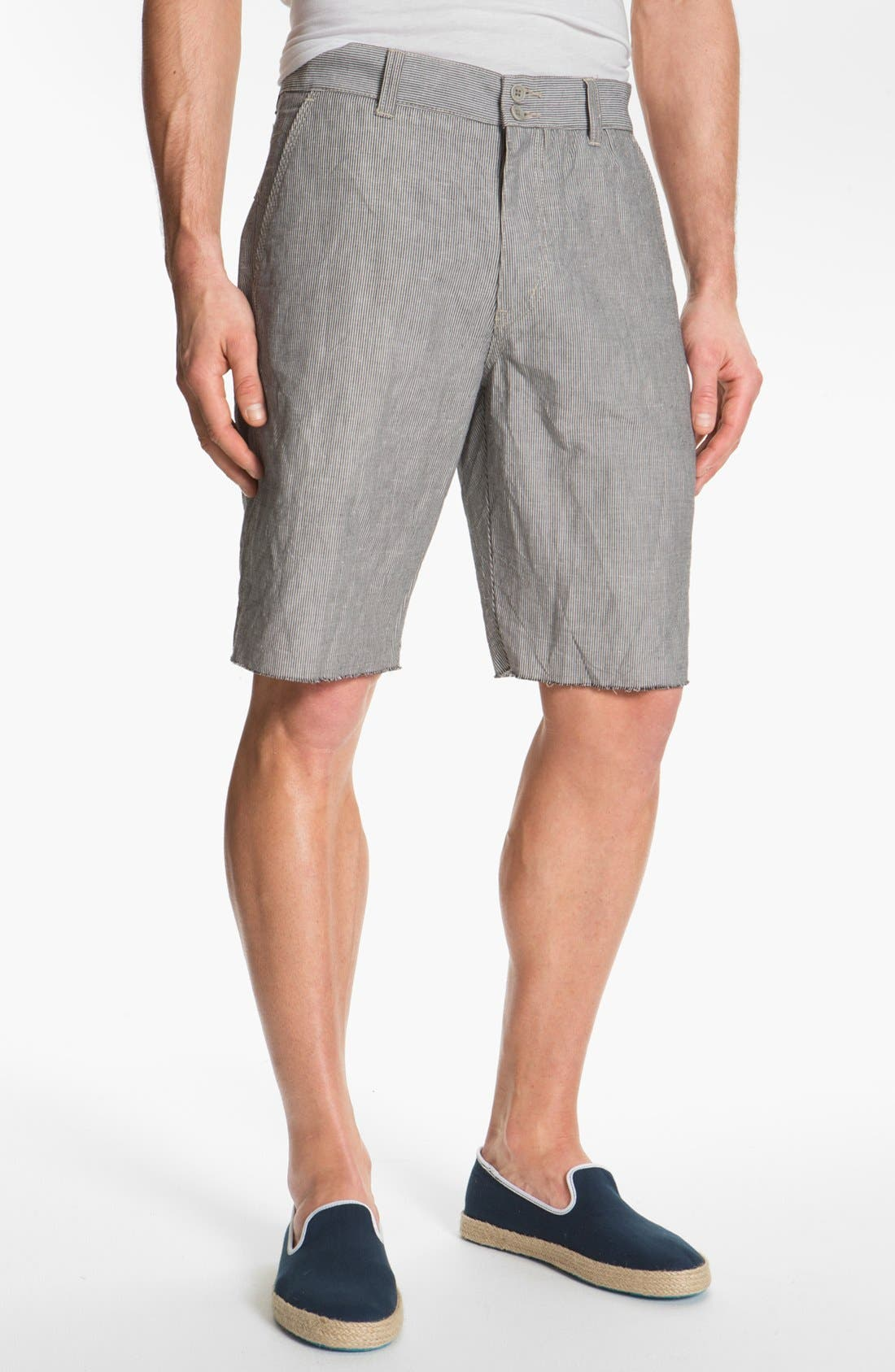 Main Image - John Varvatos Star USA Linen Blend Shorts