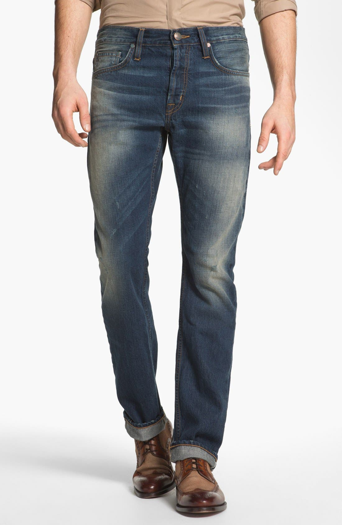 Alternate Image 1 Selected - Asbury Park '1874 Monte Carlo' Straight Leg Selvedge Jeans (Harrison)