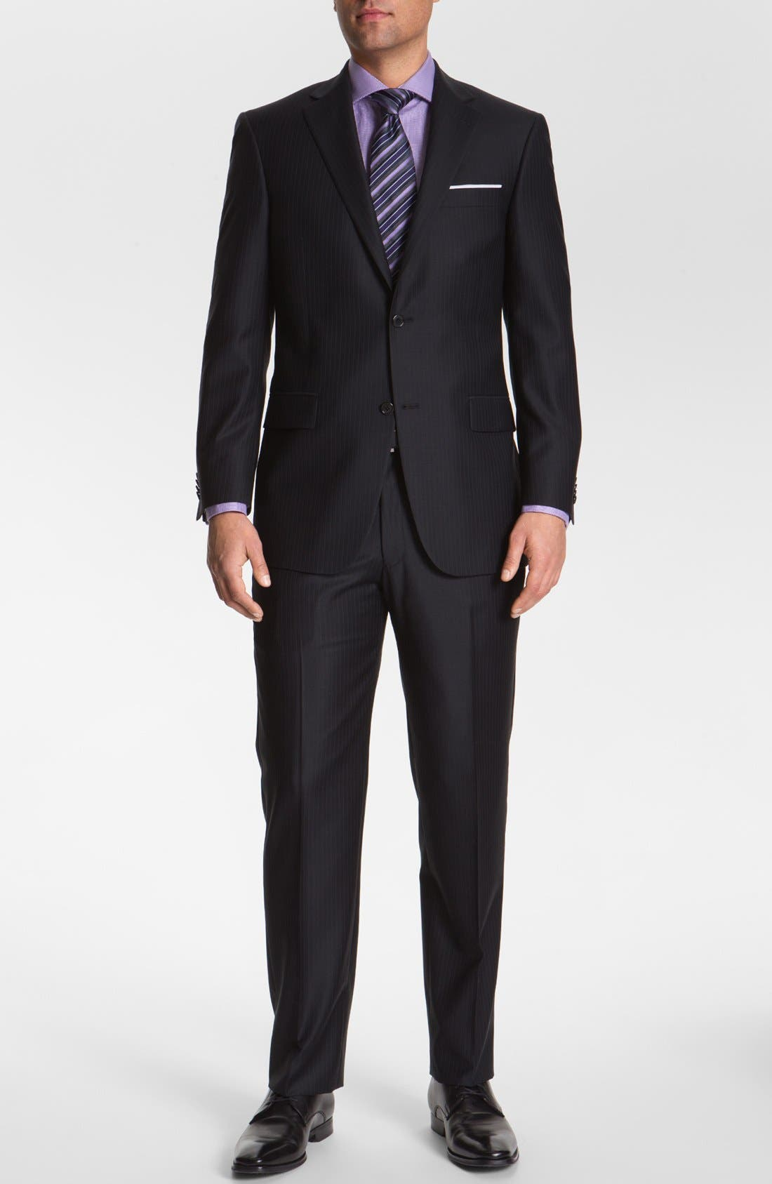 Alternate Image 2  - Hart Schaffner Marx Stripe Wool Suit (Big)