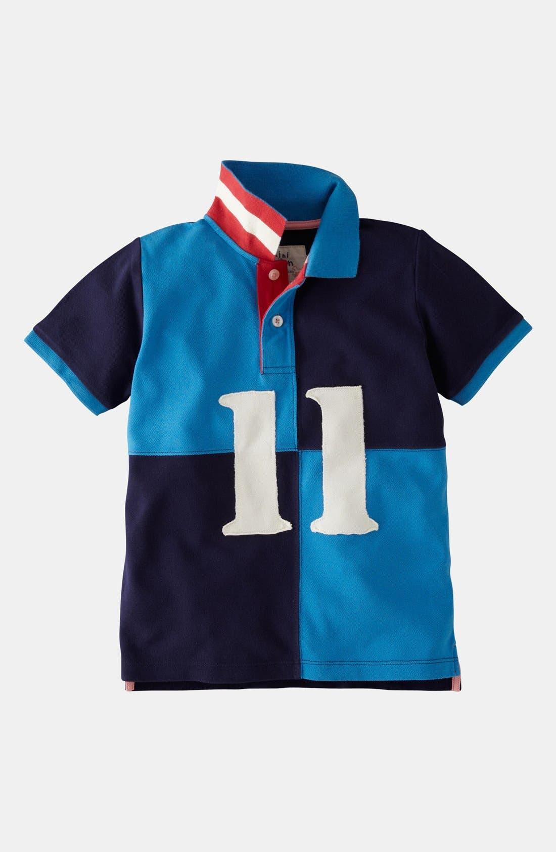 Main Image - Mini Boden Colorblock Polo (Little Boys & Big Boys)