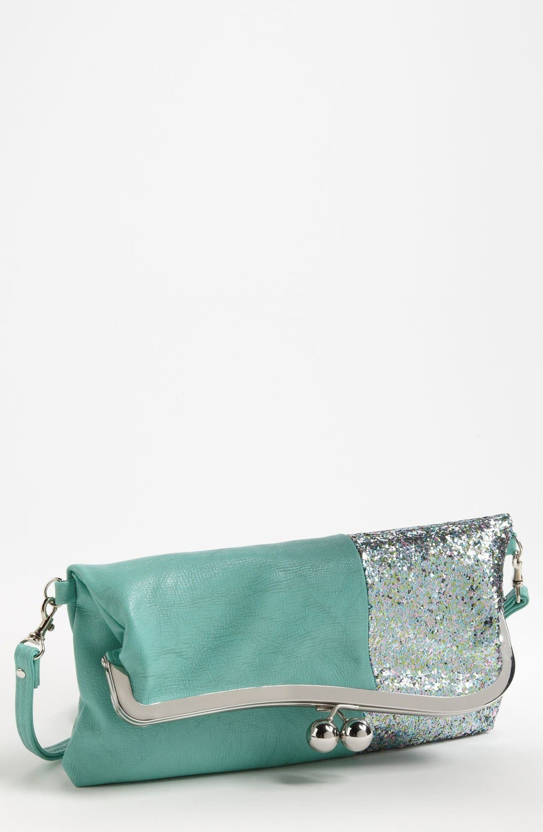 Main Image - Jessica Simpson 'Stella' Framed Foldover Clutch