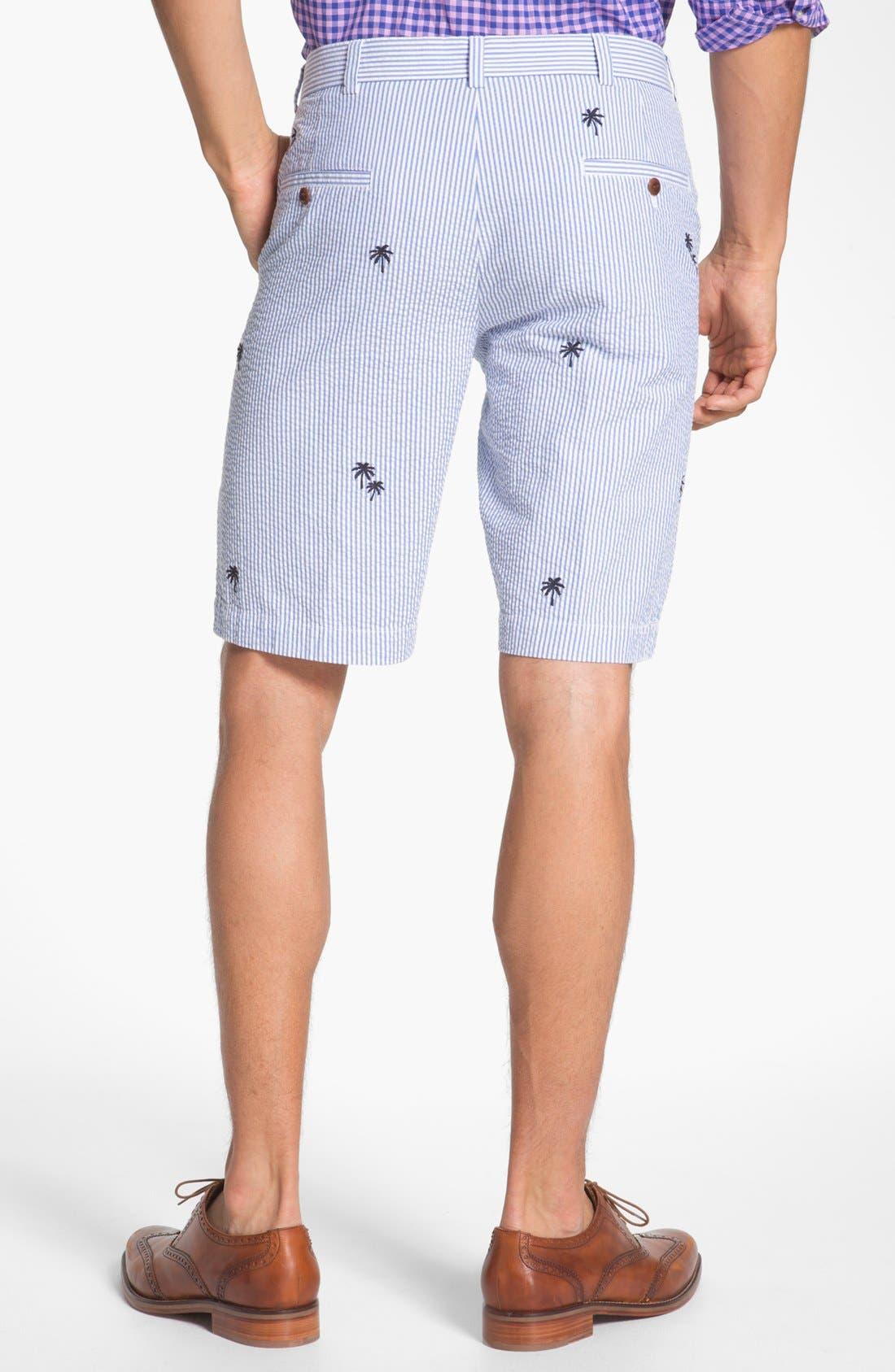 Alternate Image 2  - Brooks Brothers 'Luau' Bermuda Fit Seersucker Shorts