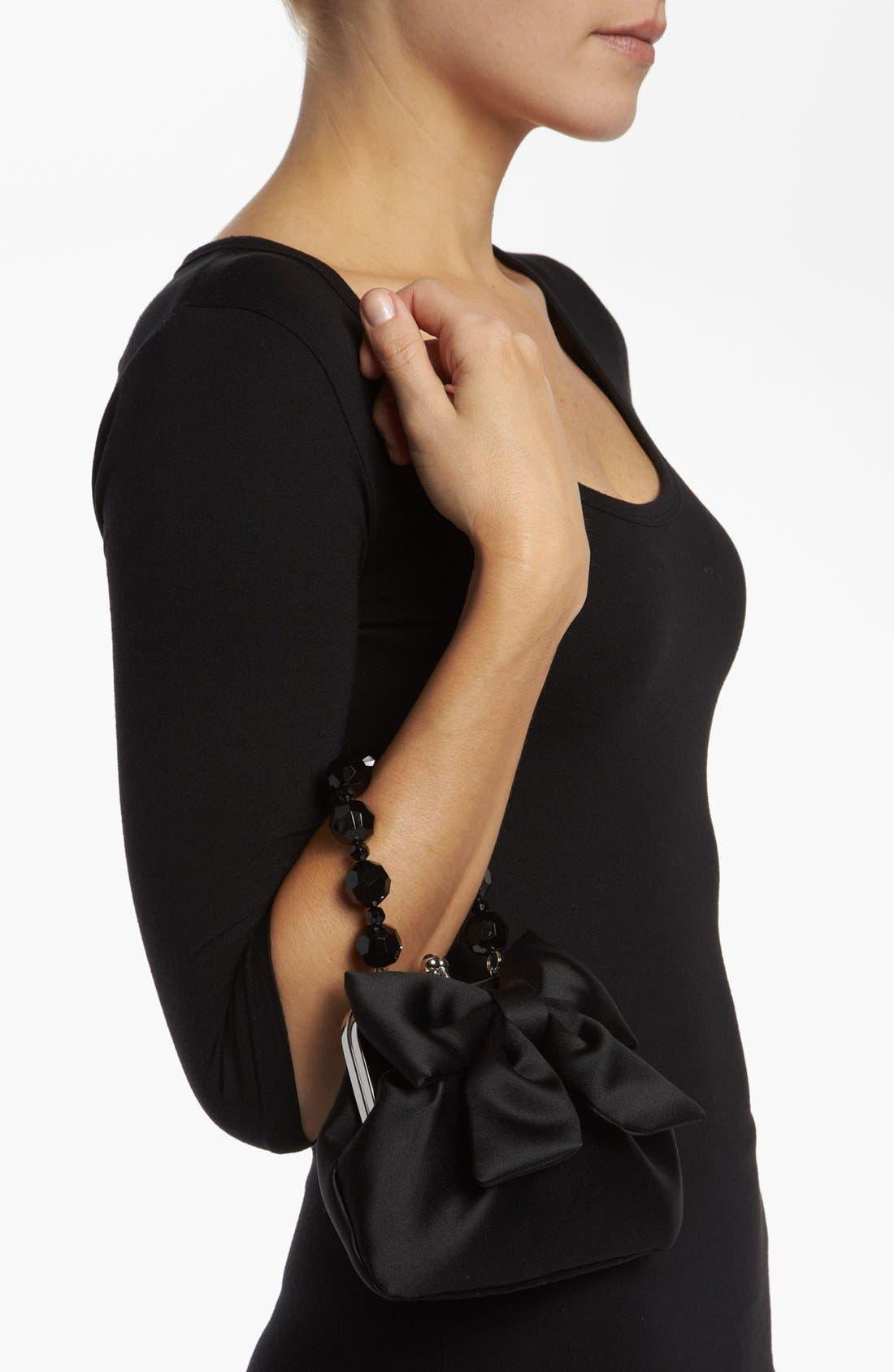 Alternate Image 2  - Sondra Roberts 'Large' Satin Bow Clutch