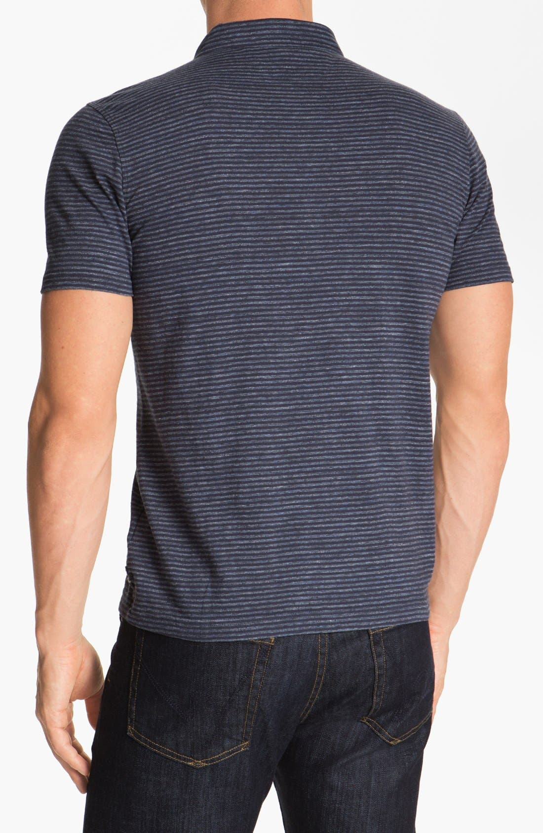 Alternate Image 2  - Façonnable Tailored Denim Knit Polo