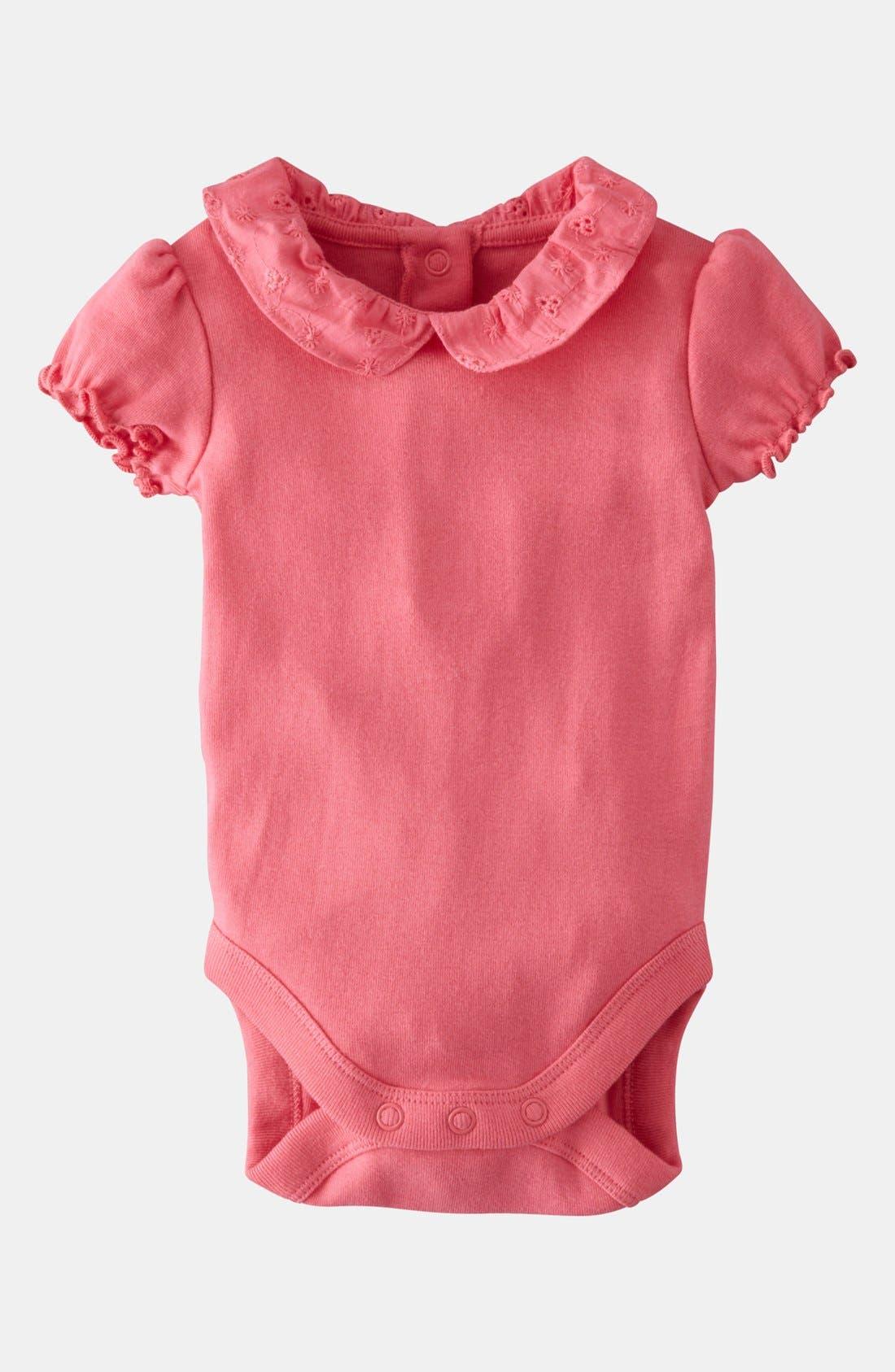Alternate Image 1 Selected - Mini Boden 'Pretty Collared' Bodysuit (Baby)