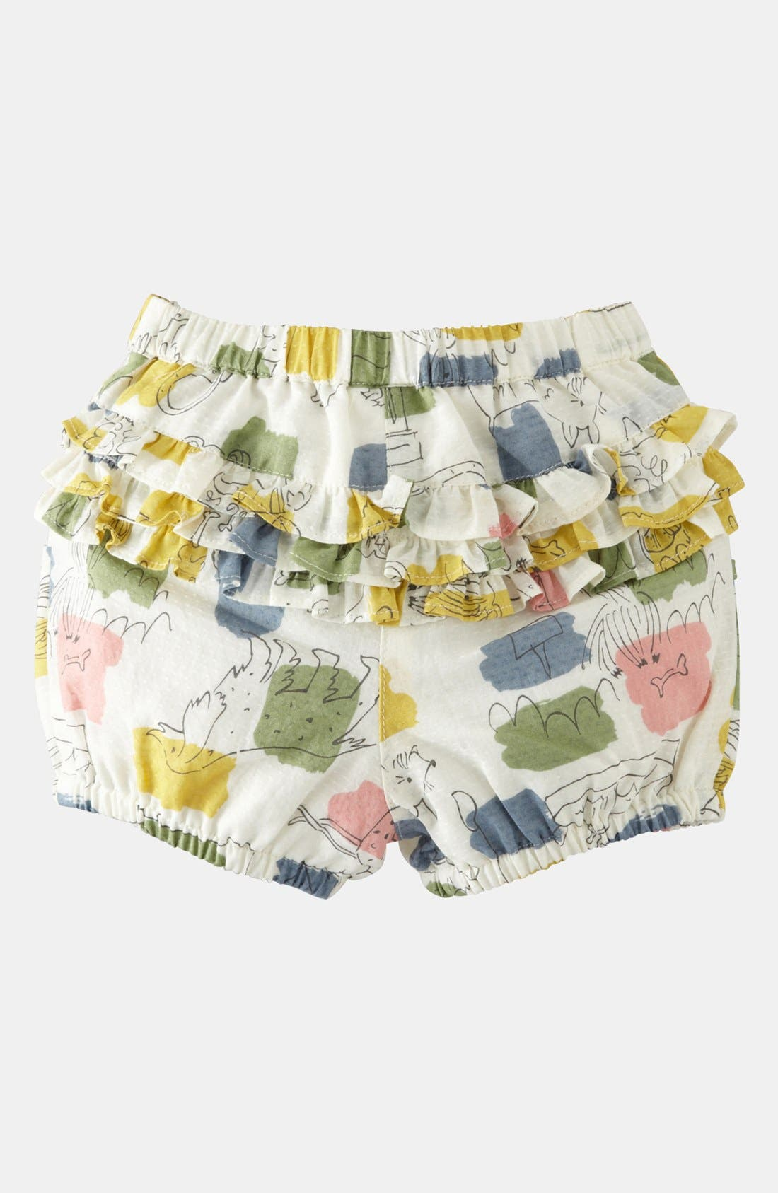Main Image - Mini Boden 'Short Ruffle' Bloomers (Baby)