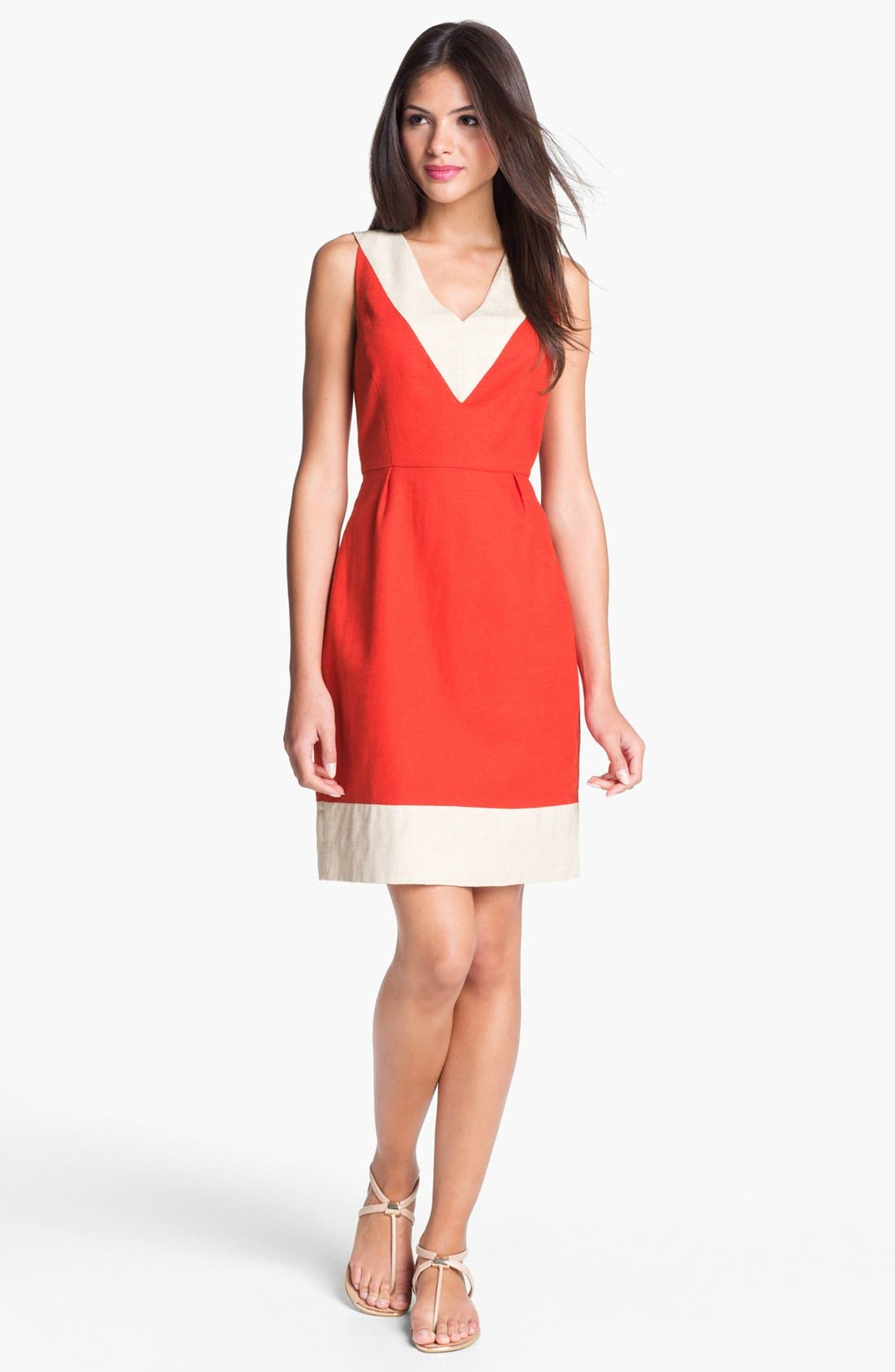 Alternate Image 1 Selected - kate spade new york 'james' cotton blend sheath dress