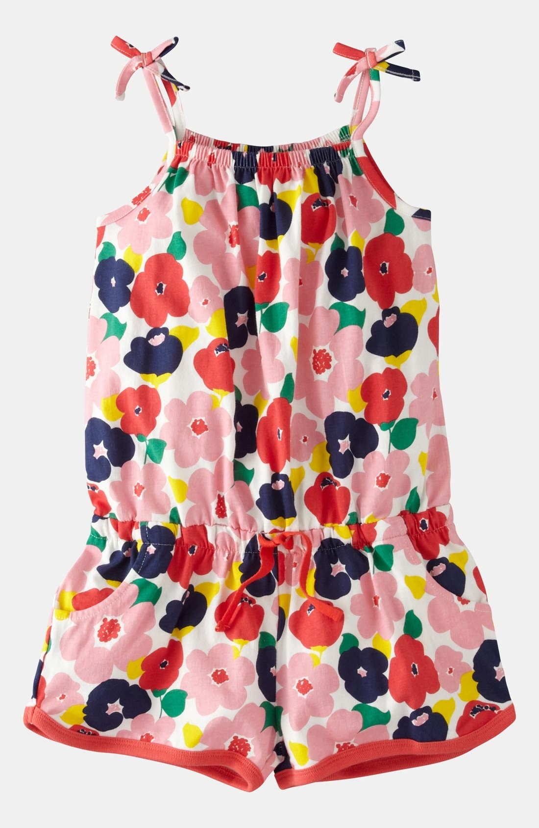 Alternate Image 1 Selected - Mini Boden Jersey Playsuit (Toddler Girls)