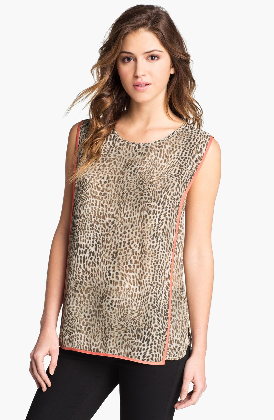 Alternate Image 1 Selected - Vince Camuto Cheetah Print Blouse
